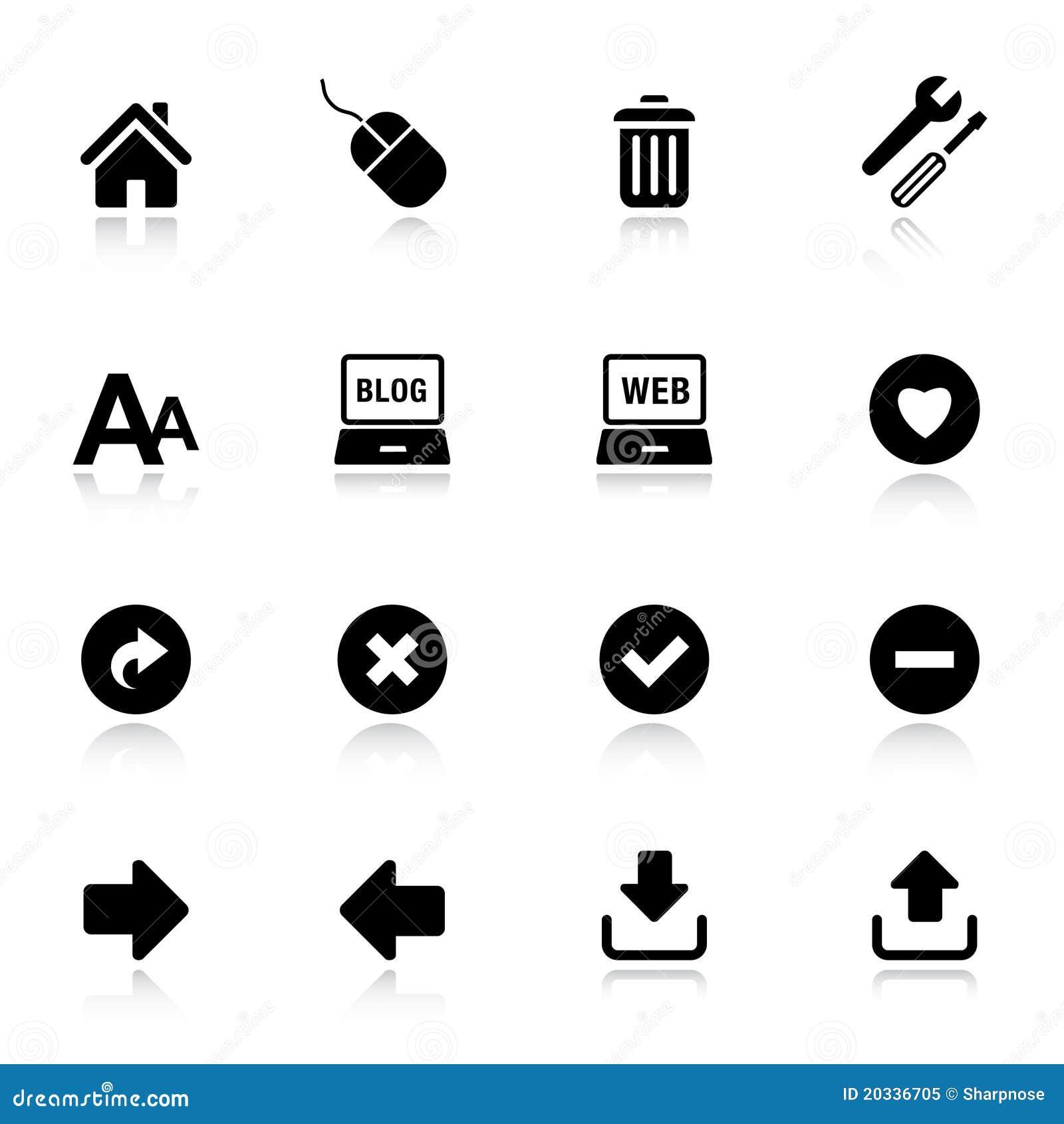 Básico - iconos clásicos del Web