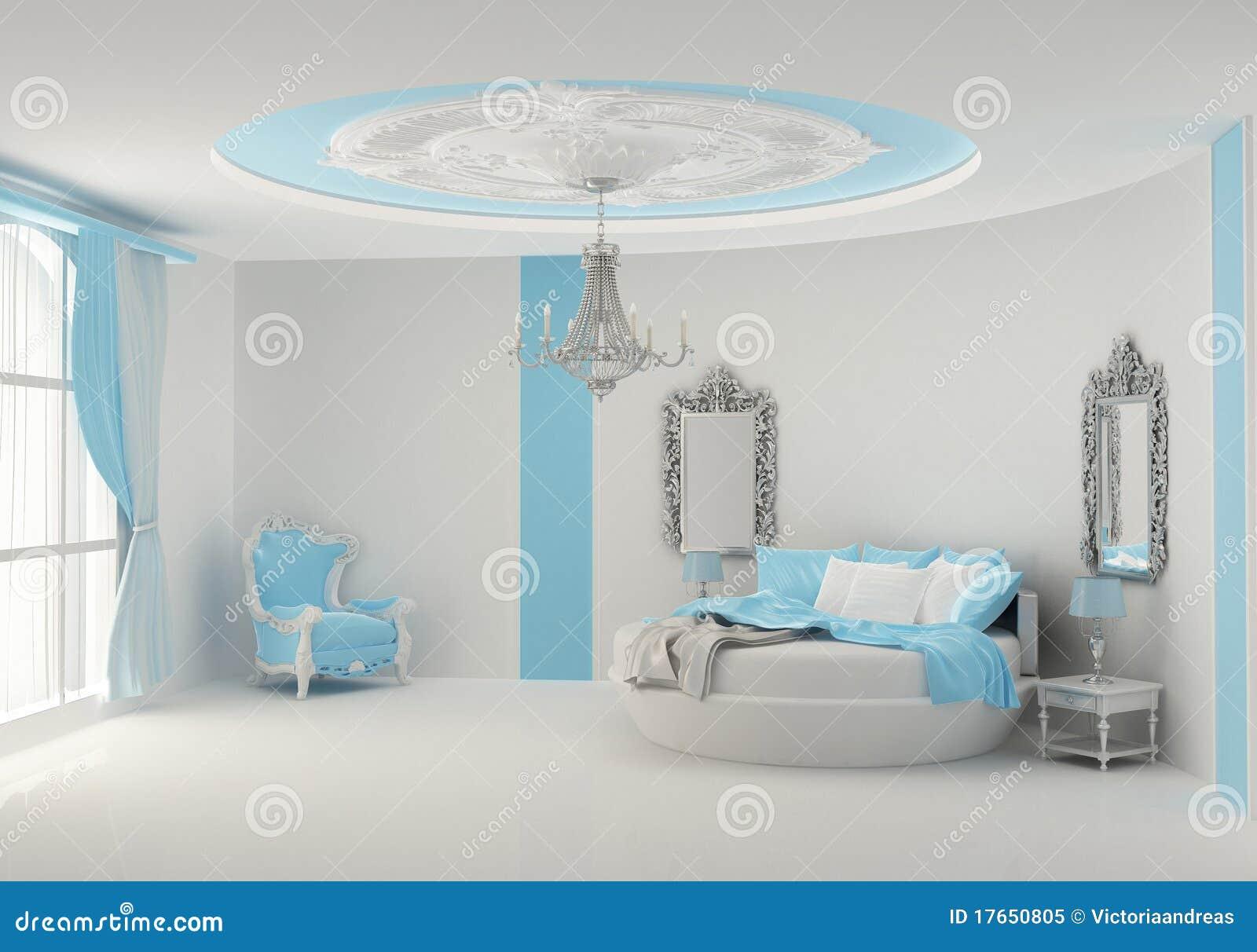 B ti rond dans la chambre coucher baroque photo libre de for Chambre a coucher baroque