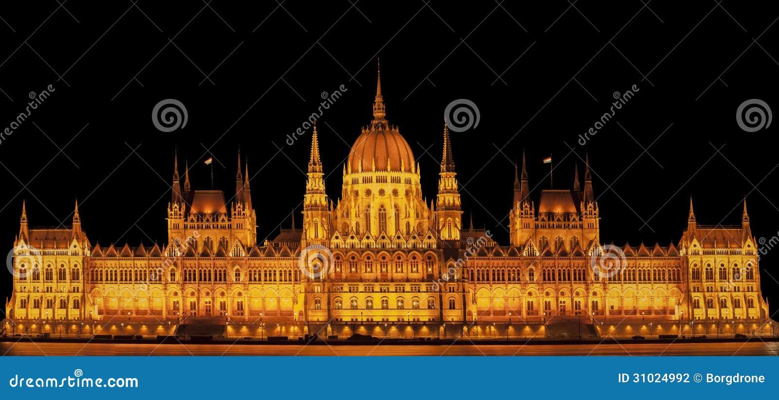 b timent c l bre du parlement la nuit photographie stock