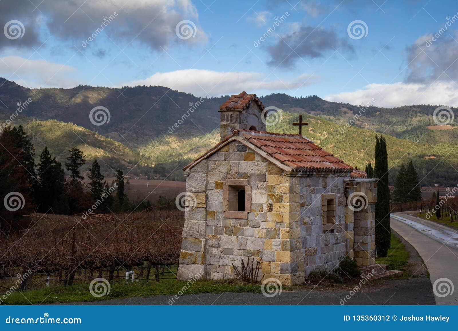 Bâtiment dans le pays de vin