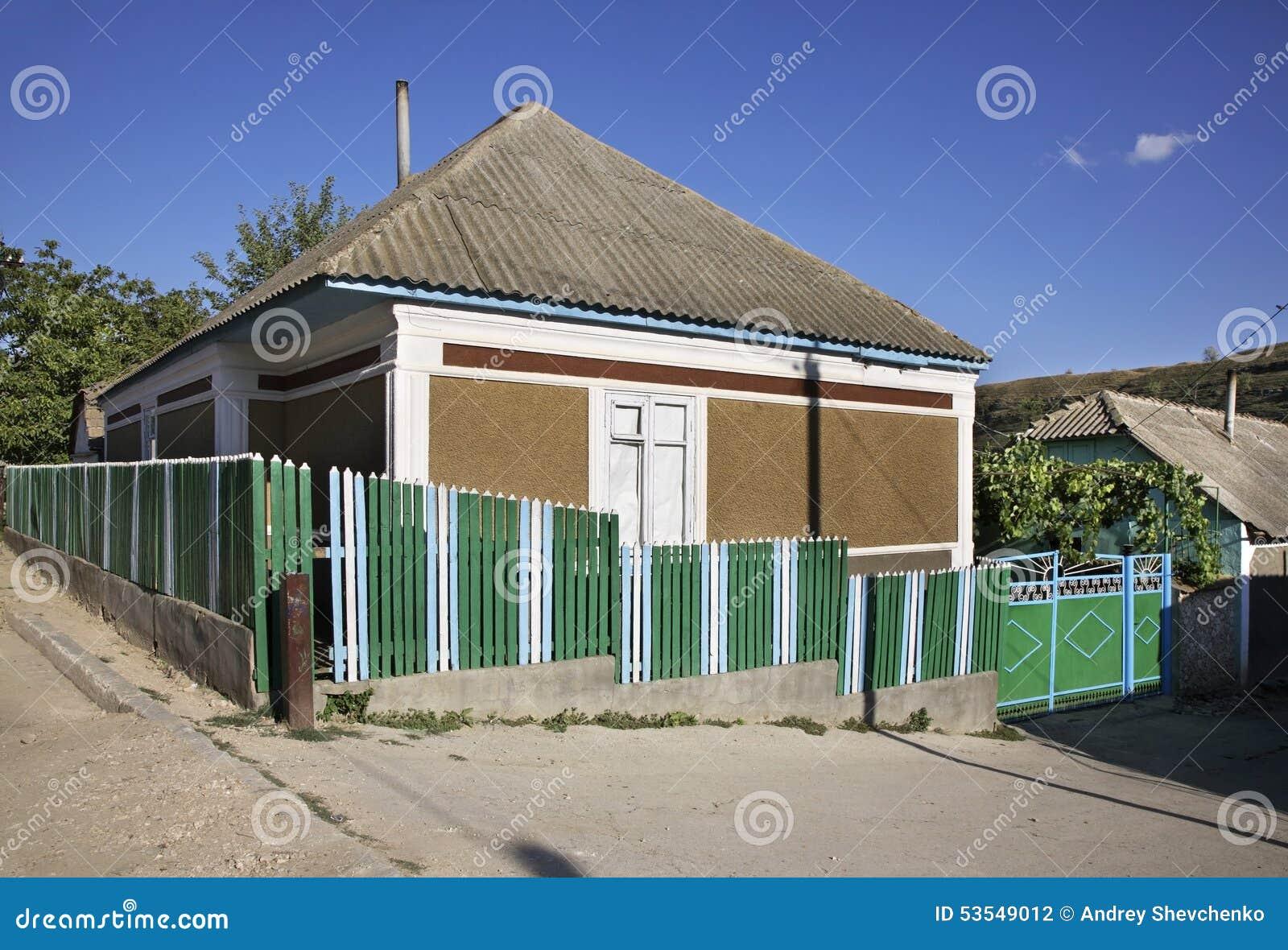 Bâtiment dans le village de Trebujeni moldau