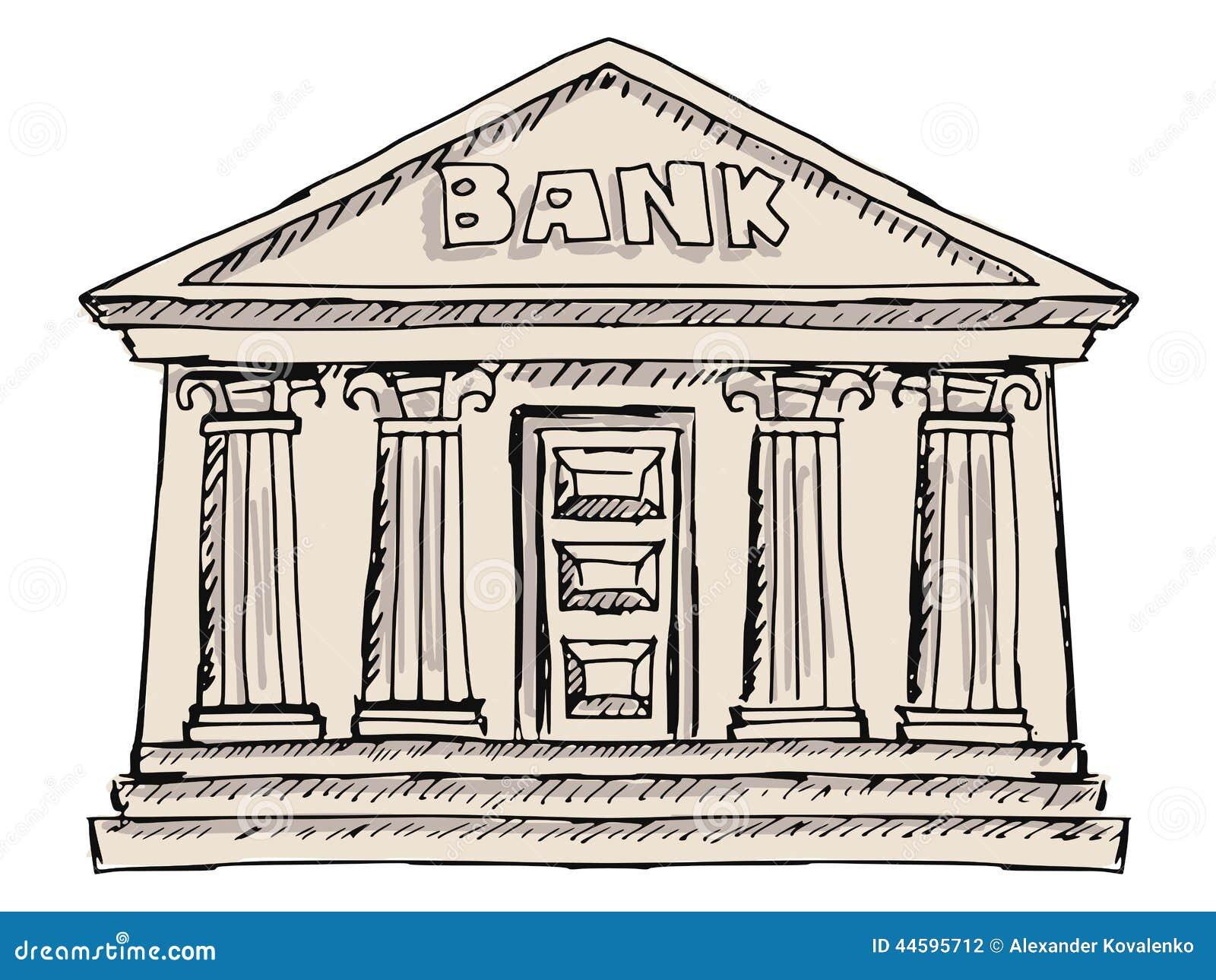 Illustration Stock B%C3%A2timent De Banque Image44595712 on Roman Style House Plans