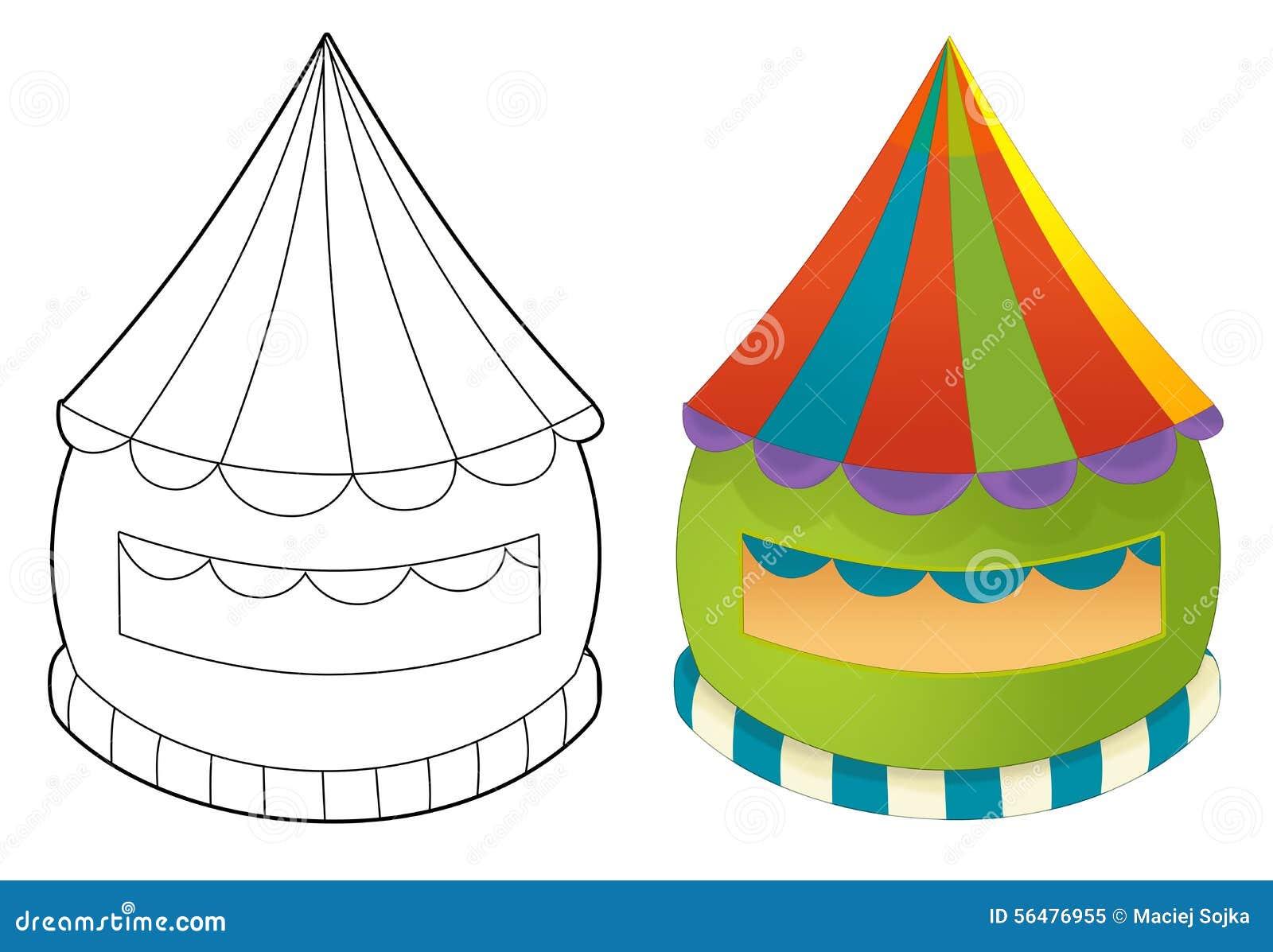 Bâtiment de fête foraine - page de coloration