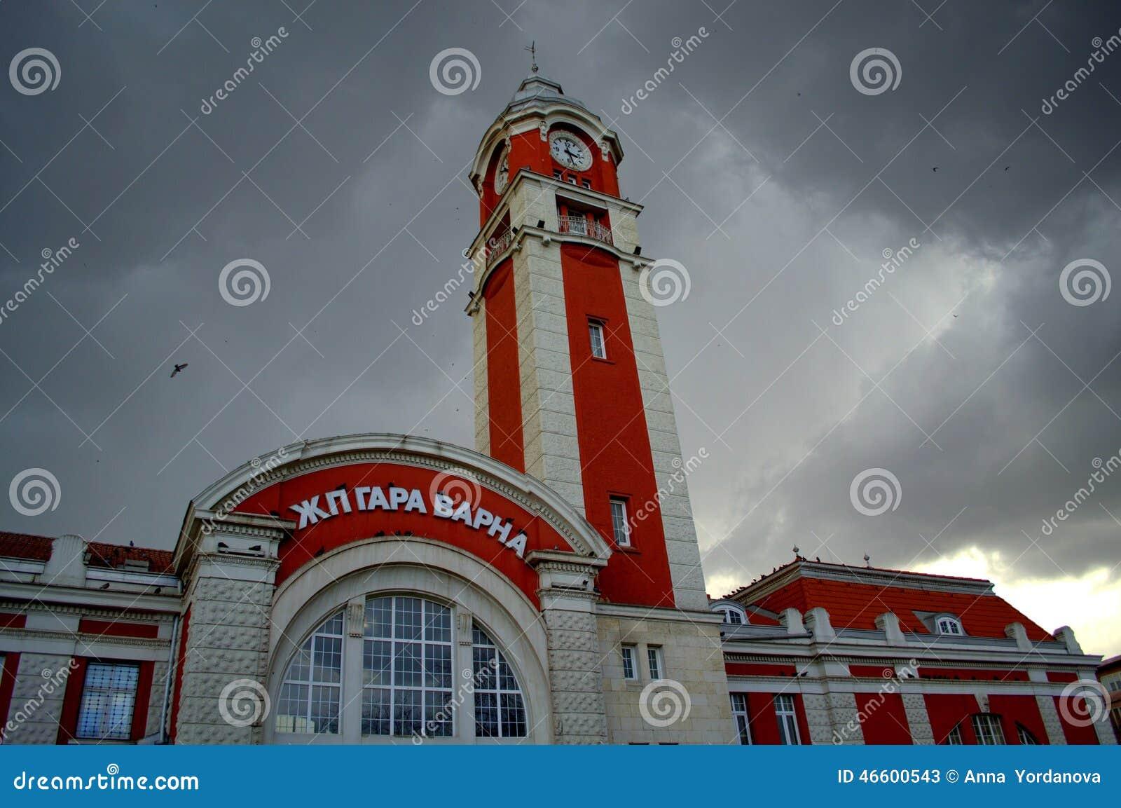 Bâtiment de gare ferroviaire de ville de Varna