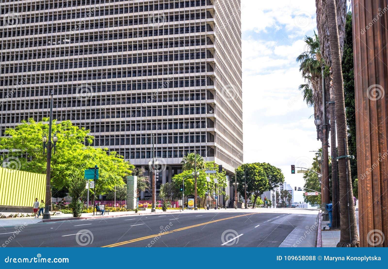 Bâtiment de la cour fédérale à Los Angeles, la Californie, Etats-Unis