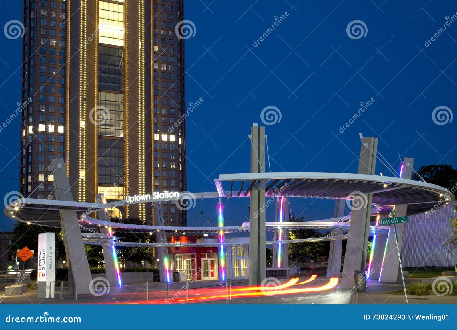 Bâtiment de la ville haute de station à Dallas