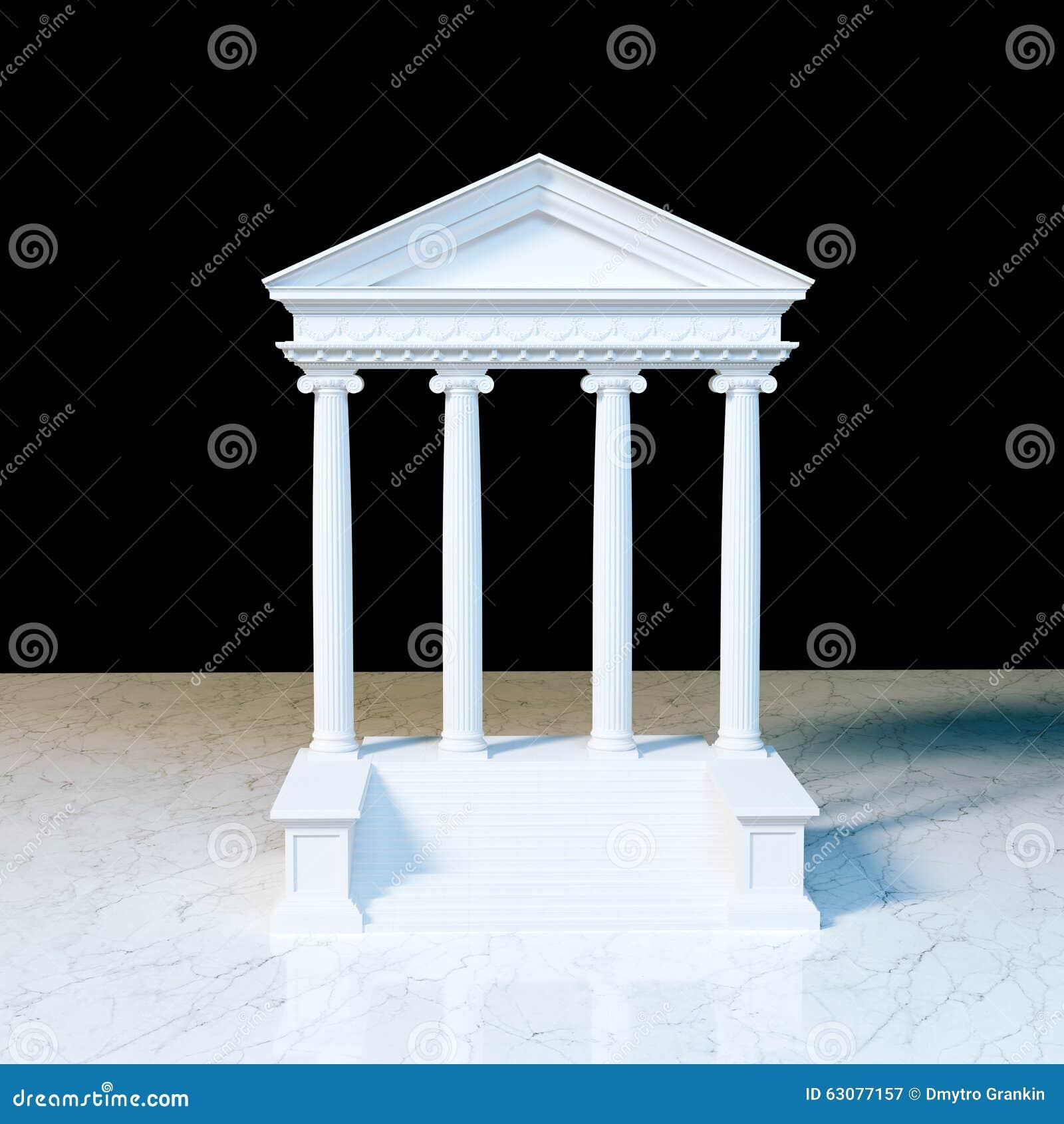Download Bâtiment Grec D'architecture Sur Le Marbre 3d Rendent Illustration Stock - Illustration du justice, fléau: 63077157