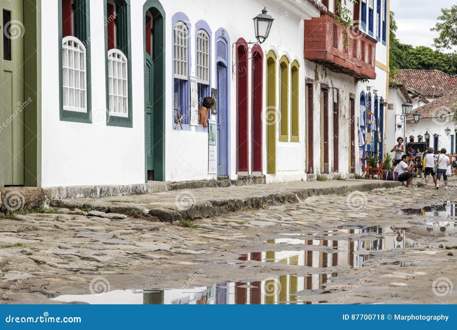 Bâtiment historique de Paraty en Rio de Janeiro Brazil