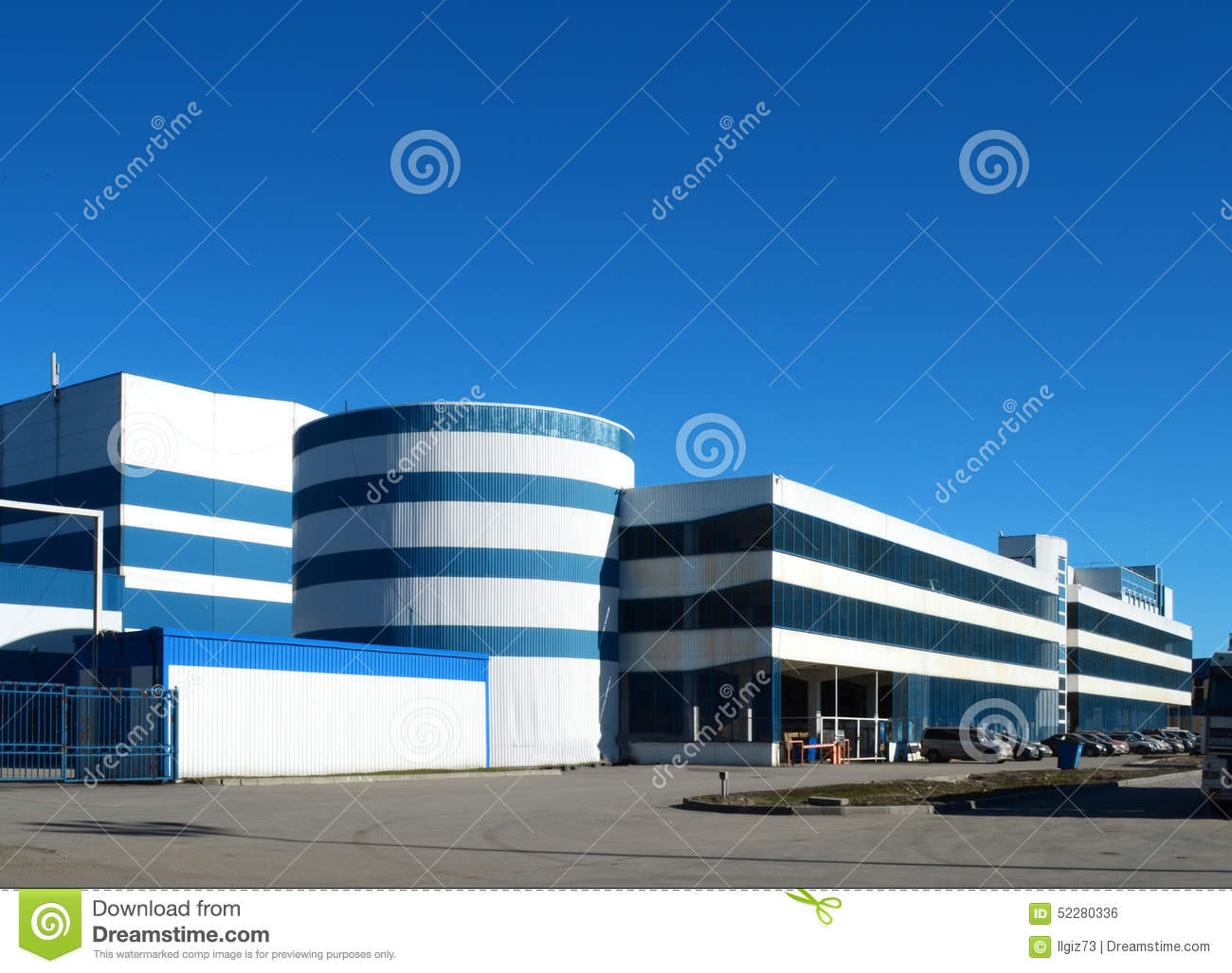 B timent industriel et moderne photo stock image 52280336 - Batiment industriel moderne ...