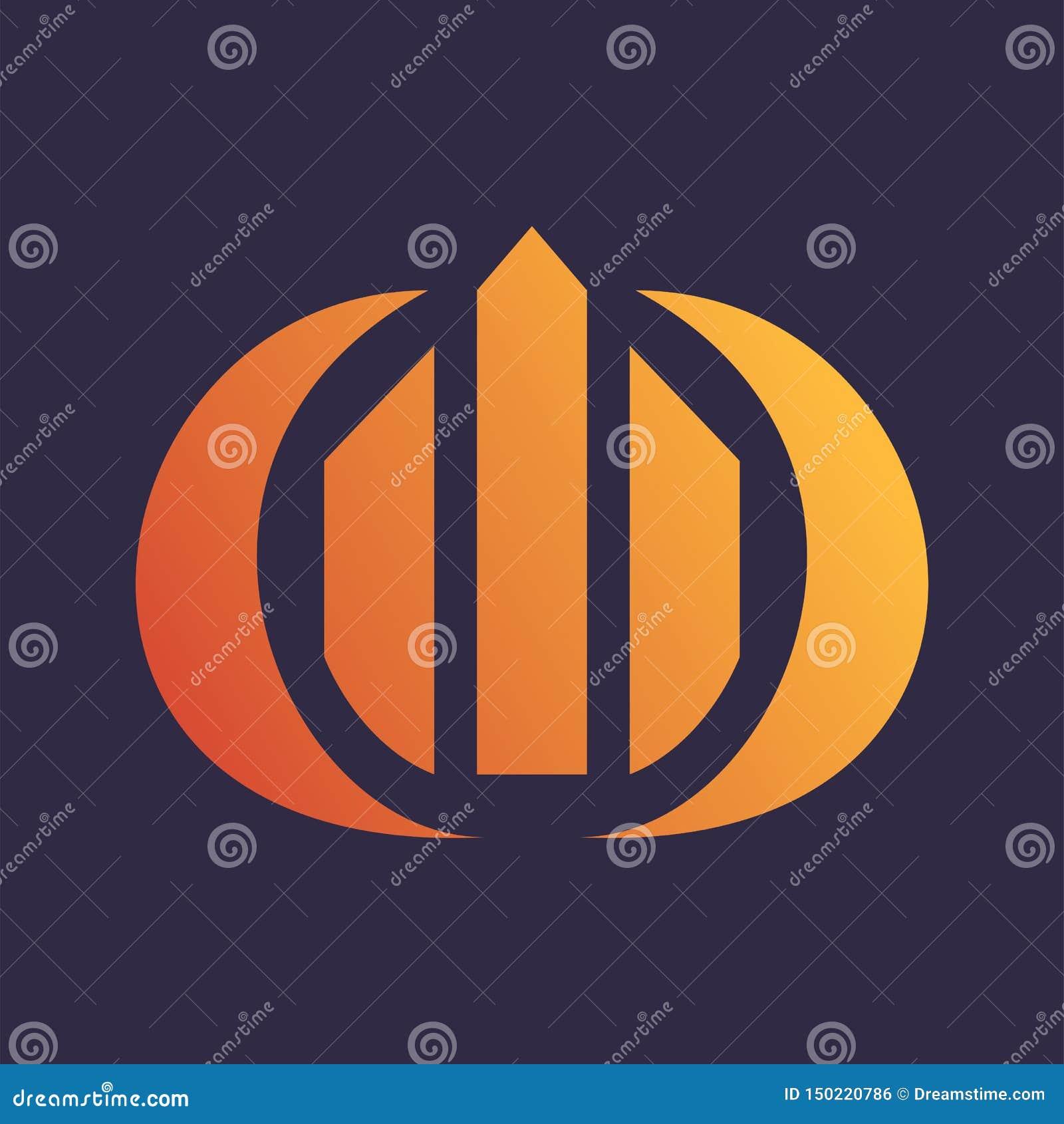Bâtiment Logo Vector de cercle de diagramme