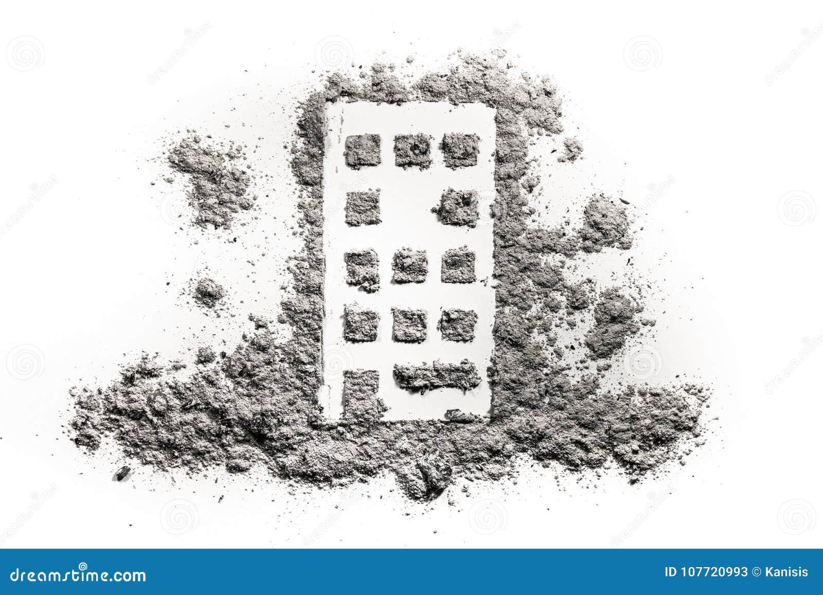 Maison En Ruine Dessin bâtiment ou dessin à la maison de silhouette en cendre ou
