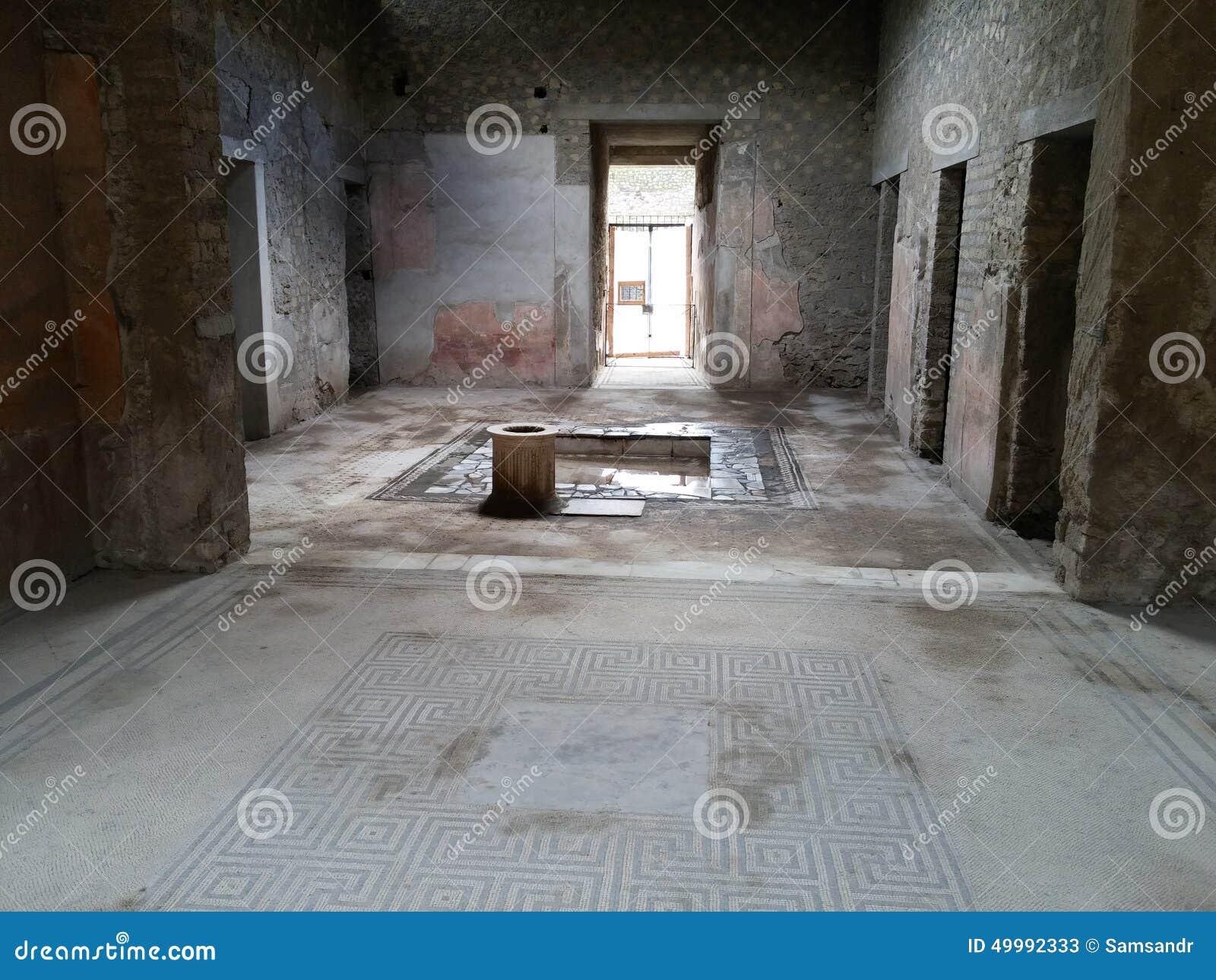 Bâtiment ruiné à Pompeii