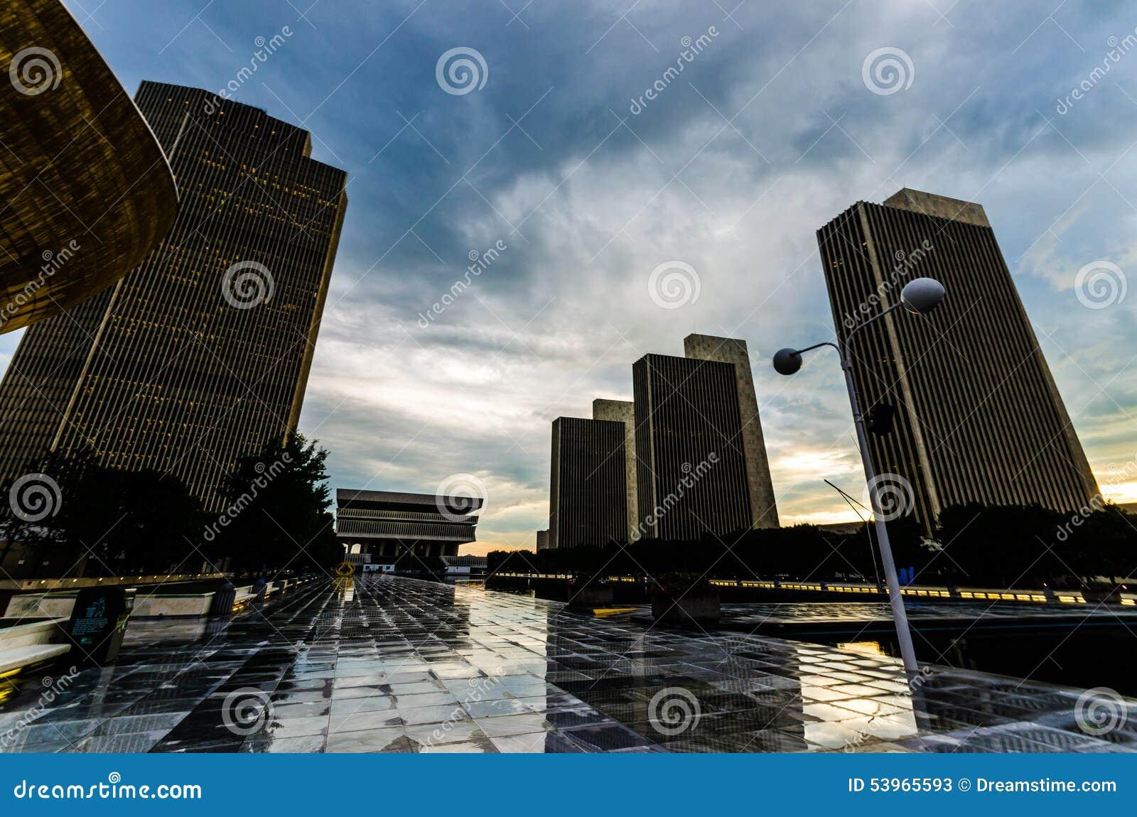 Bâtiments Albany, NY d état