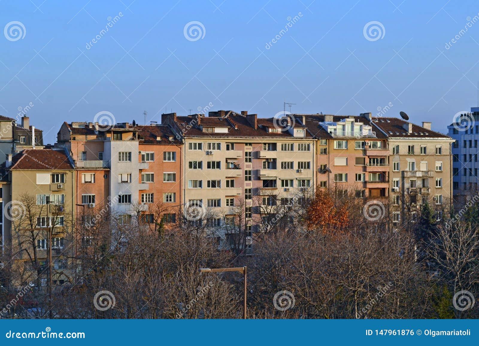 B?timents au centre de Sofia, Bulgarie