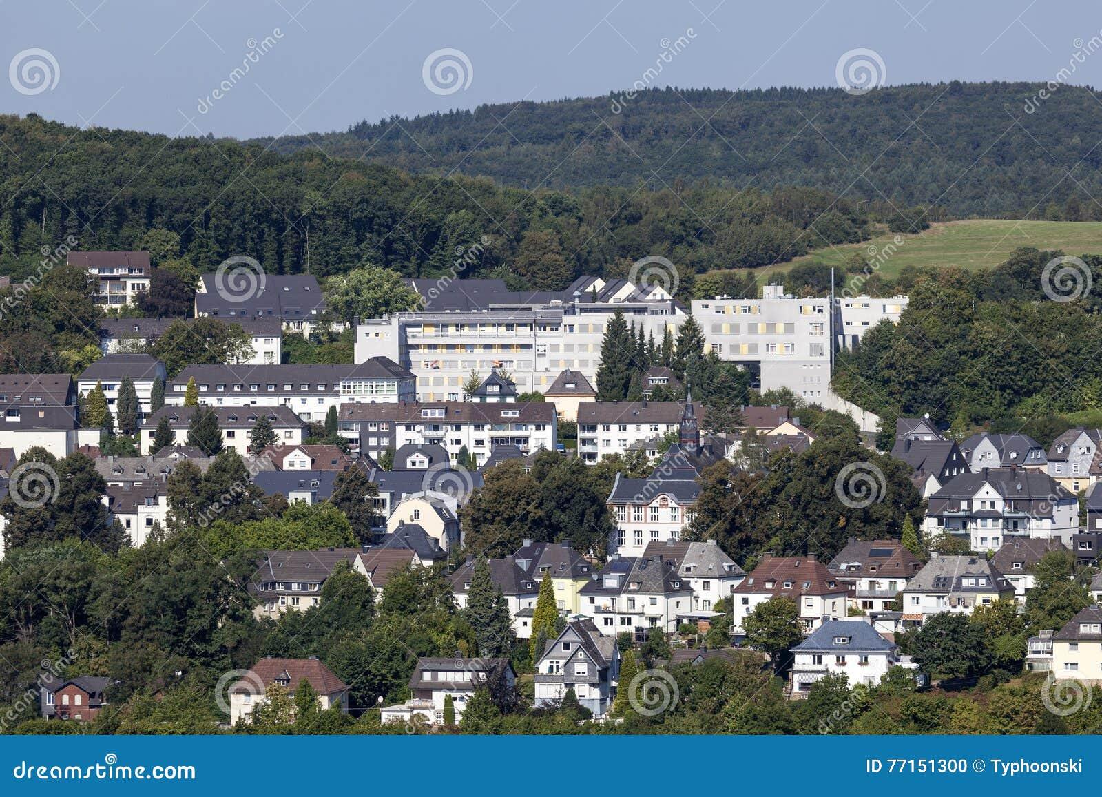 Bâtiments dans Siegen, Allemagne