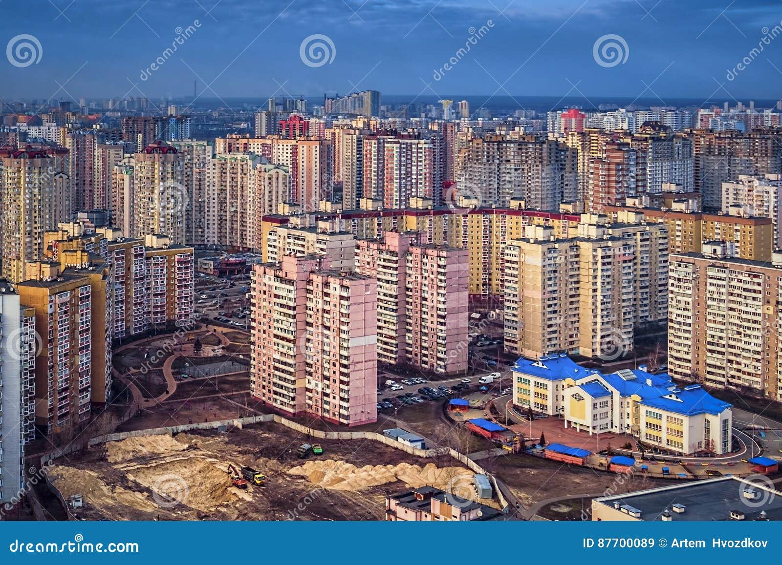 Bâtiments résidentiels colorés, jour, extérieur
