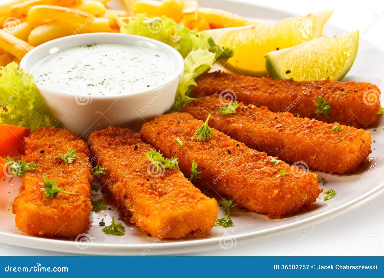 Bâtons de poisson frits