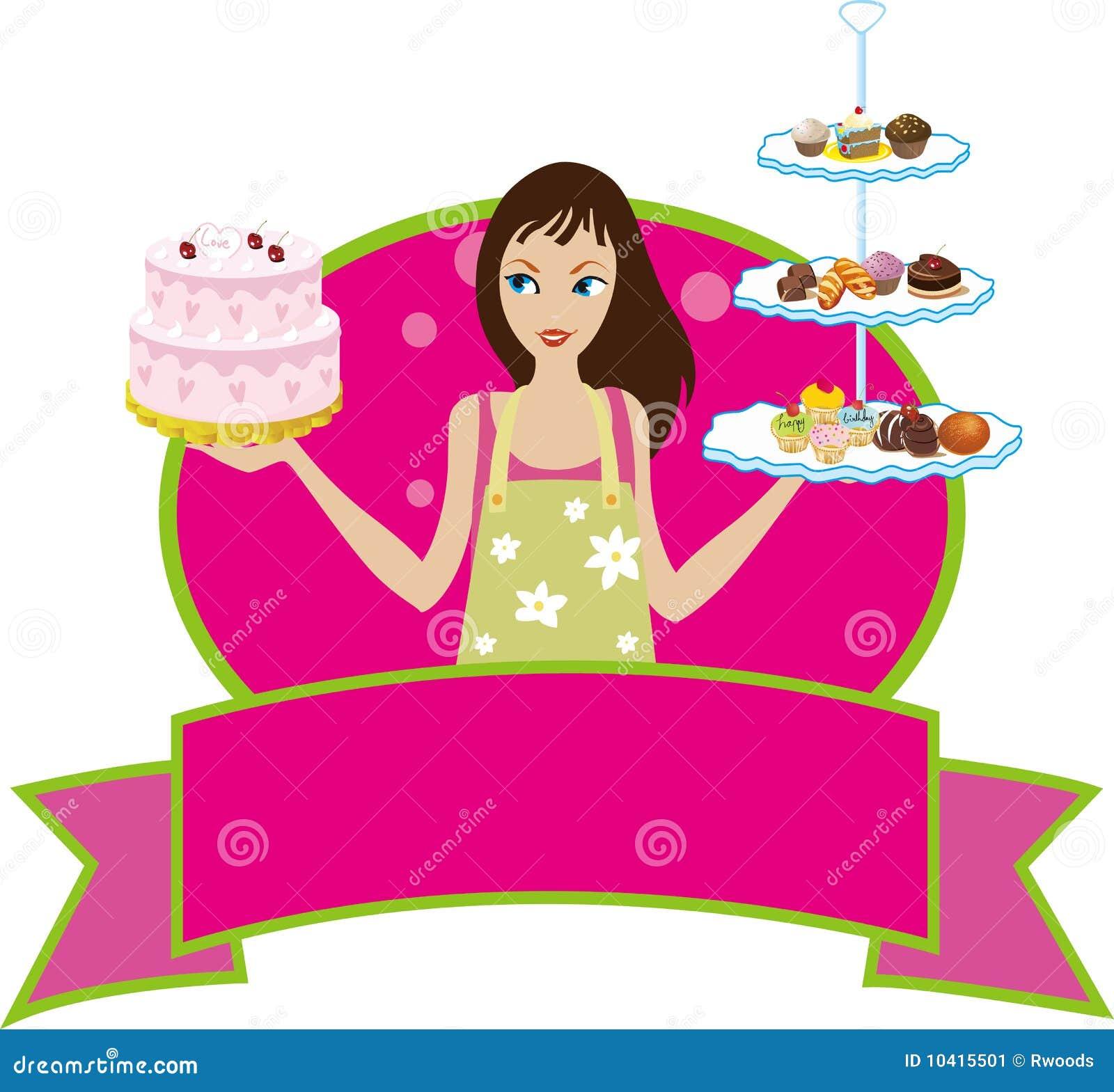 Bäckerei-Bäcker-Gebäck-Chef-Mädchen-Frauen-Diva
