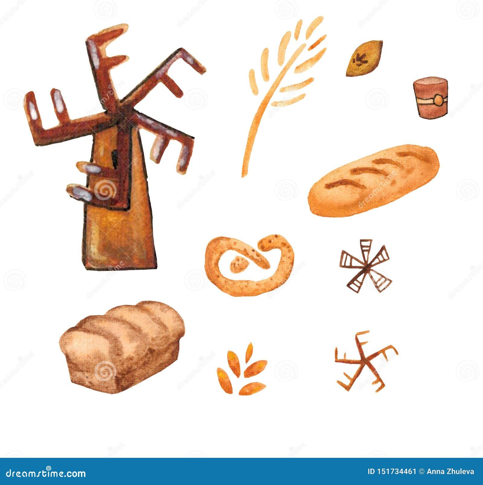 Bäckereiprodukte, backender Druck Geb?cksatz Netter Küchenhintergrund