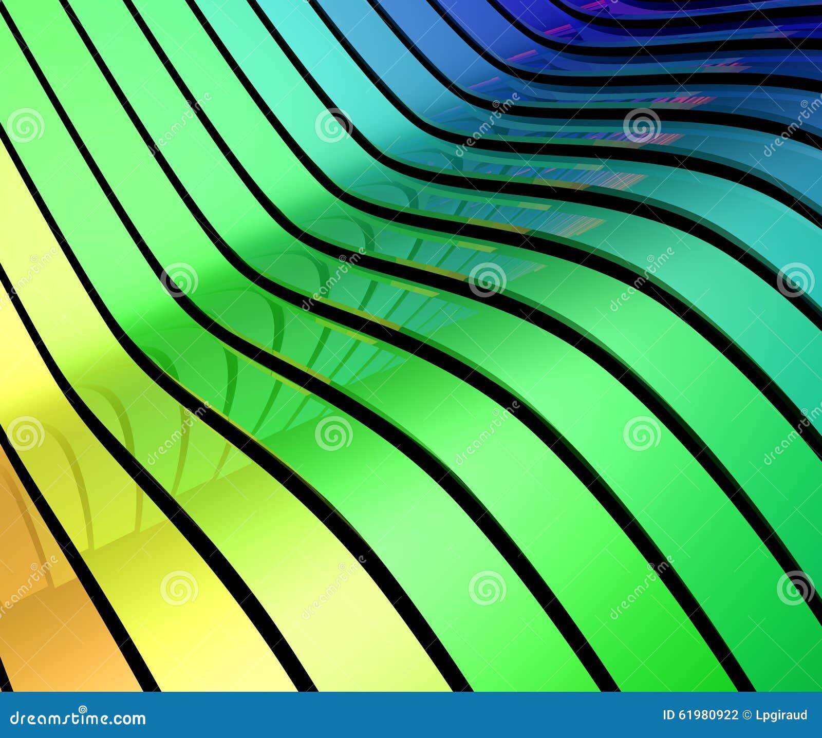 Bänder der Farbe 3d