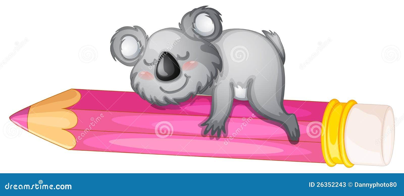 Bär, der auf Bleistift schläft