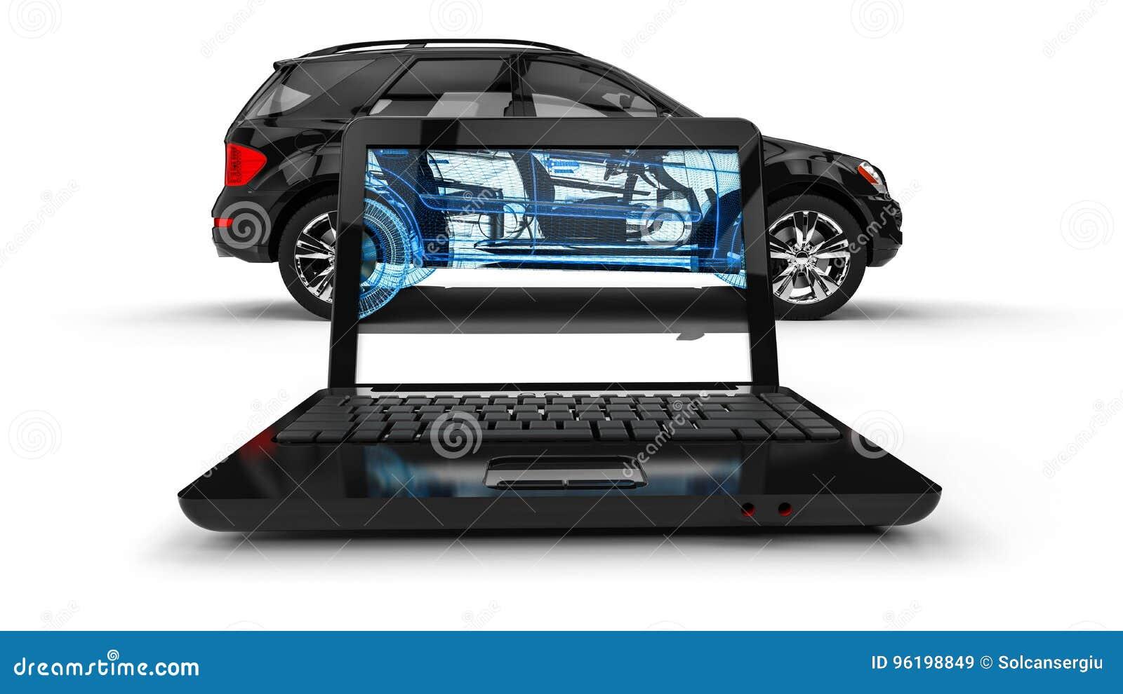 Bärbar datortrådram SUV