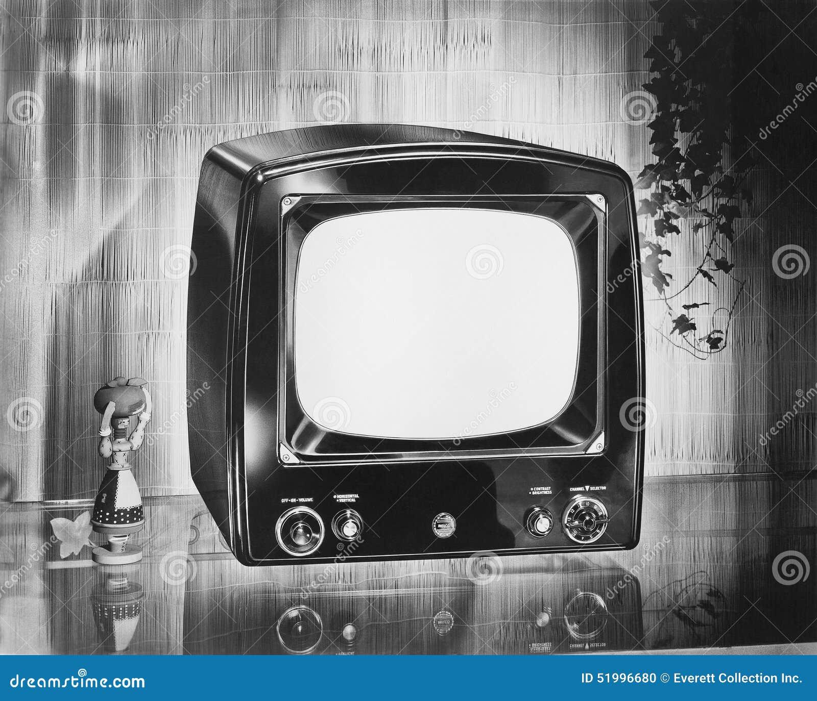 Bärbar television för Philco märke, circa 1952 (alla visade personer inte är längre uppehälle, och inget gods finns Leverantörwar