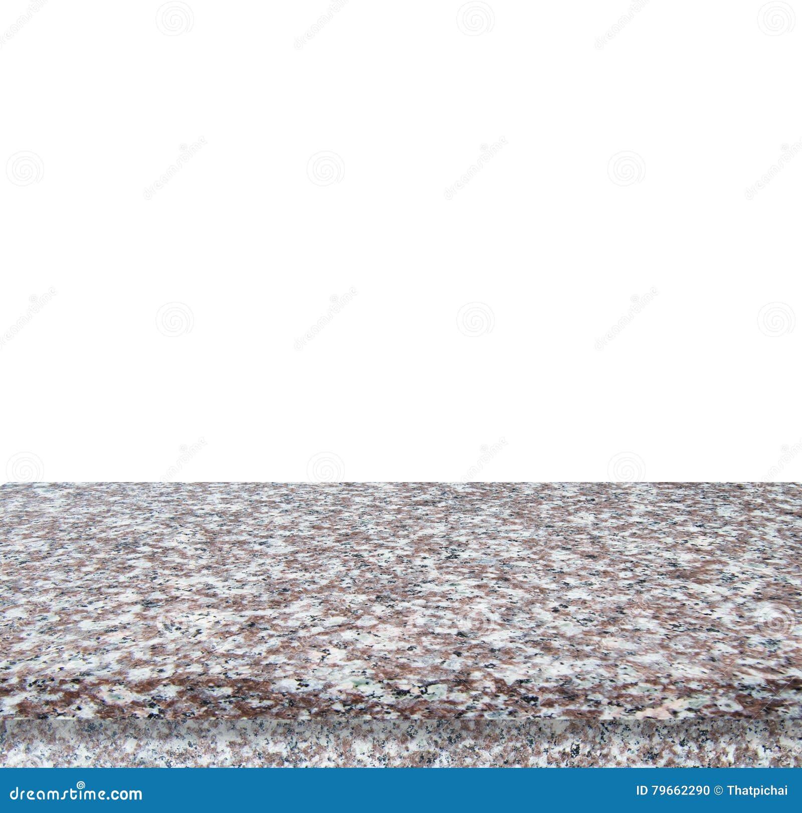 Bästa för marmorstentabell som isoleras på vit bakgrund - kan användas för skärm