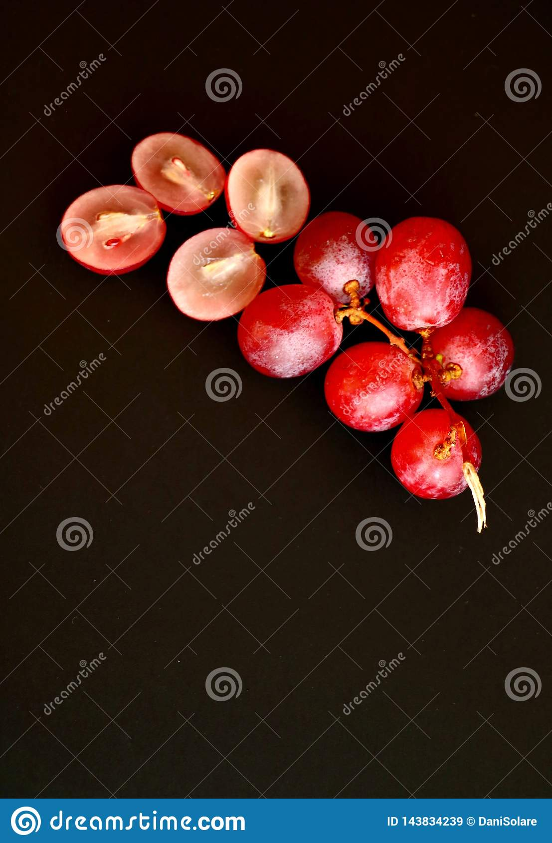 Bästa sikt av gruppen av rosa druvor