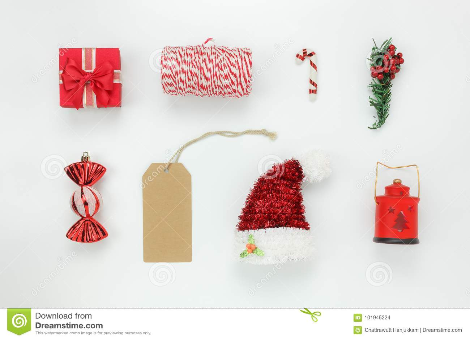 Bästa sikt för tabell av den objektgarnering & prydnaden för glad jul & lyckligt nytt år