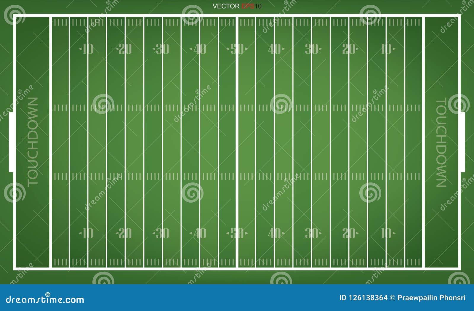 Bästa sikter av fältet för amerikansk fotboll vektor
