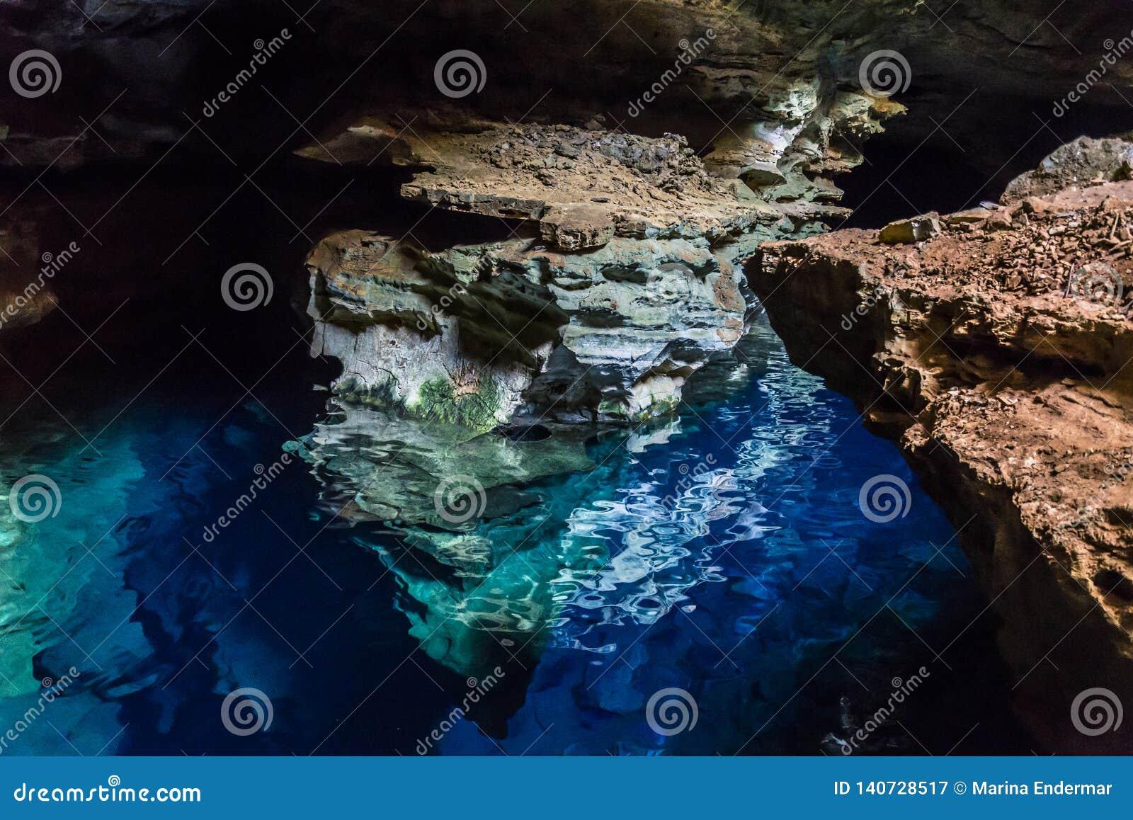Błękit Dobrze zawala się, Chapada Diamantina, Bahia, Brazylia