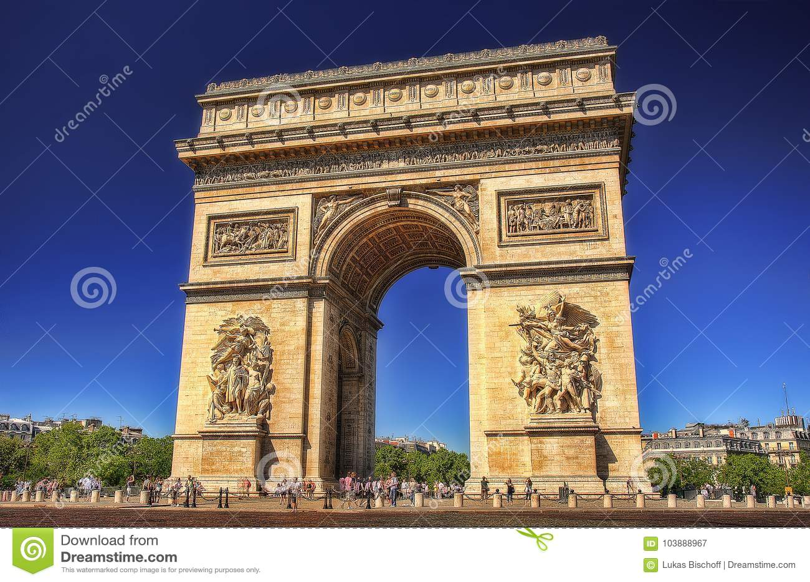 Båge de Triomf, Paris, Frankrike