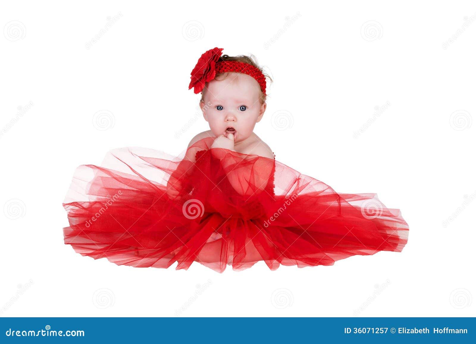 Bebe Avec La Robe Rouge Image Stock Image Du Robe Rouge 36071257
