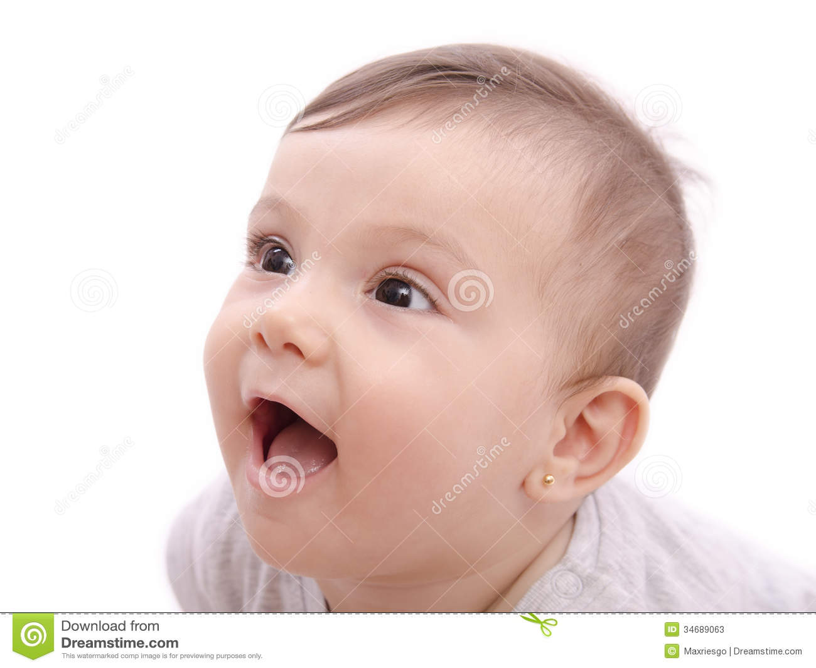 Bébé de sourire mignon