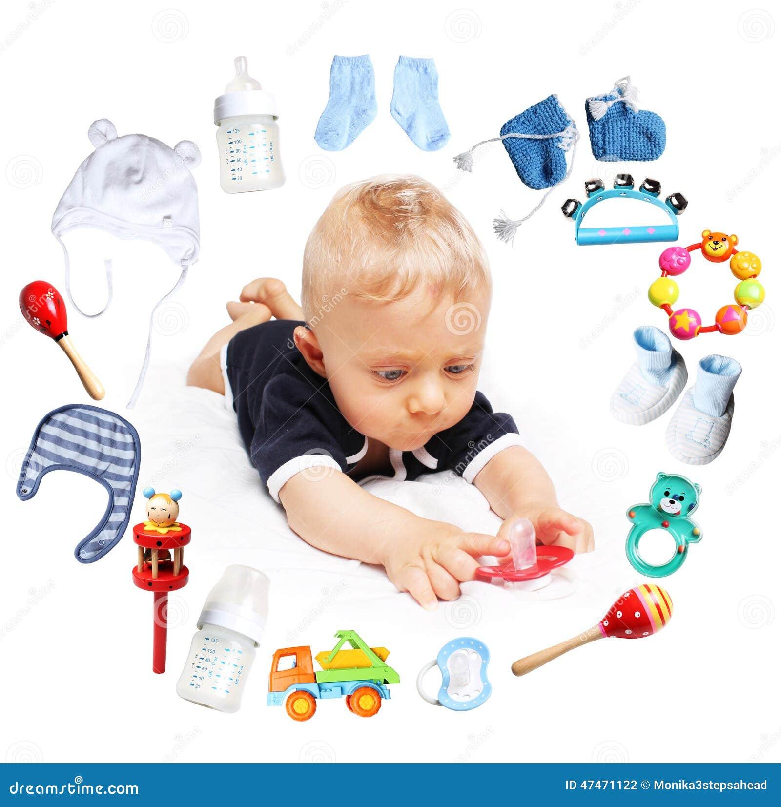 b b gar on et accessoires pour des enfants en cercle autour photo stock image 47471122