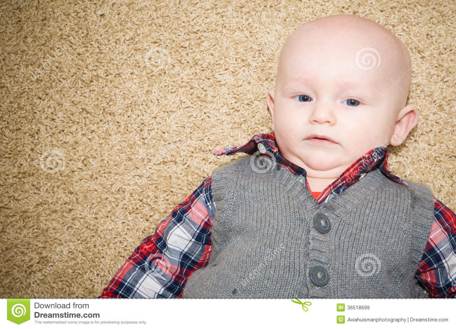 Bébé sceptique portant Gray Vest