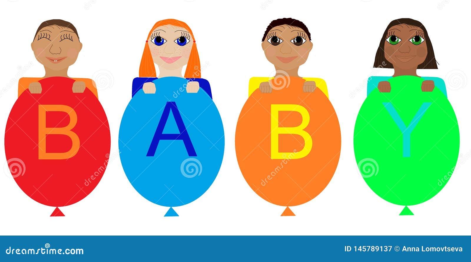 Bébés de différentes nationalités