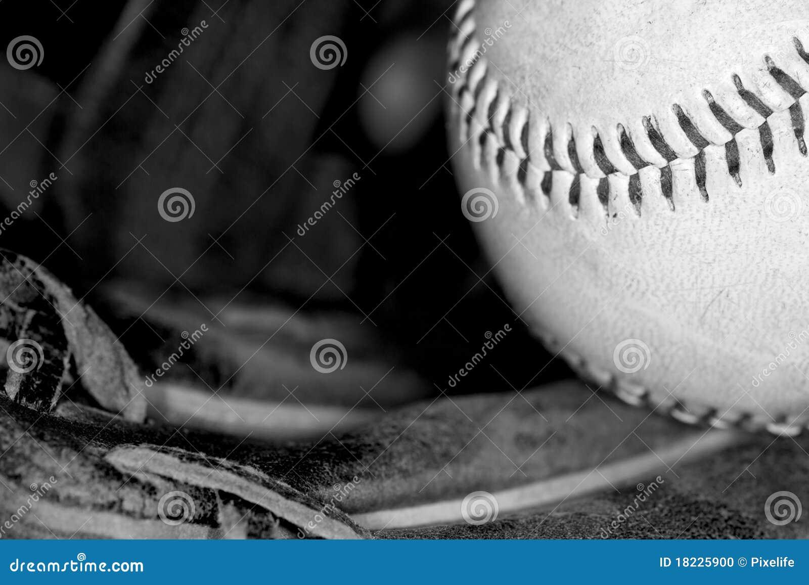 Béisbol en blanco y negro foto de archivo. Imagen de cordón - 18225900 ab5094e5b34bd