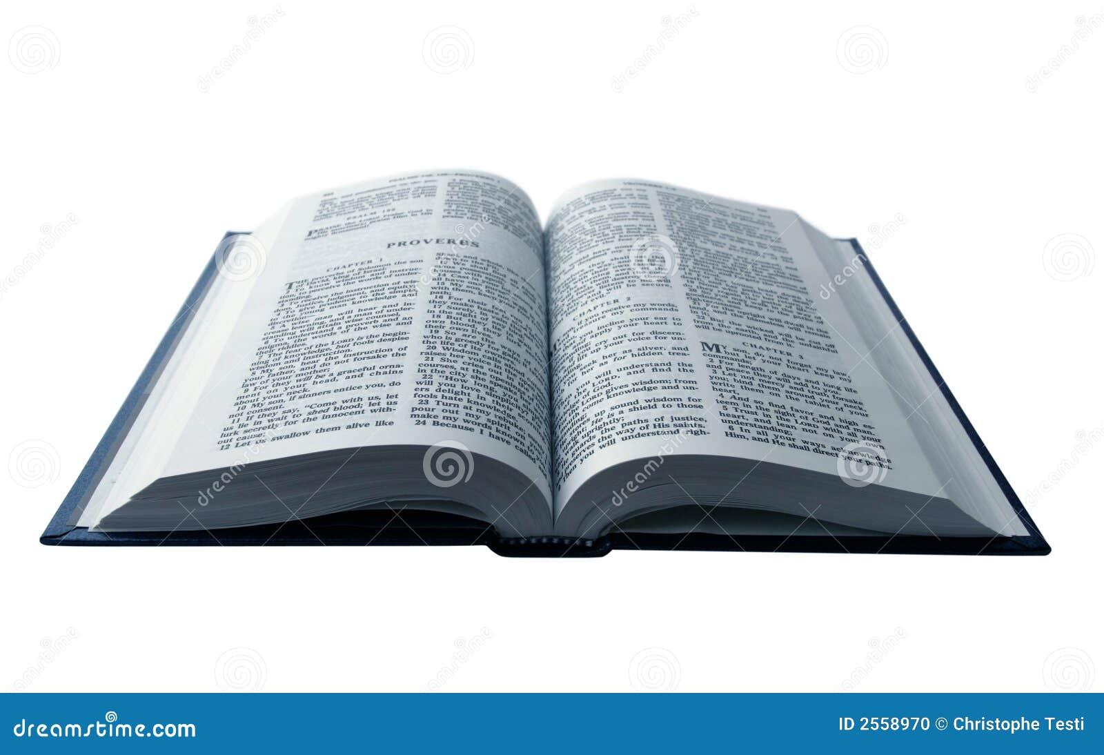 A Bíblia Aberta Foto de Stock - Imagem: 2558970