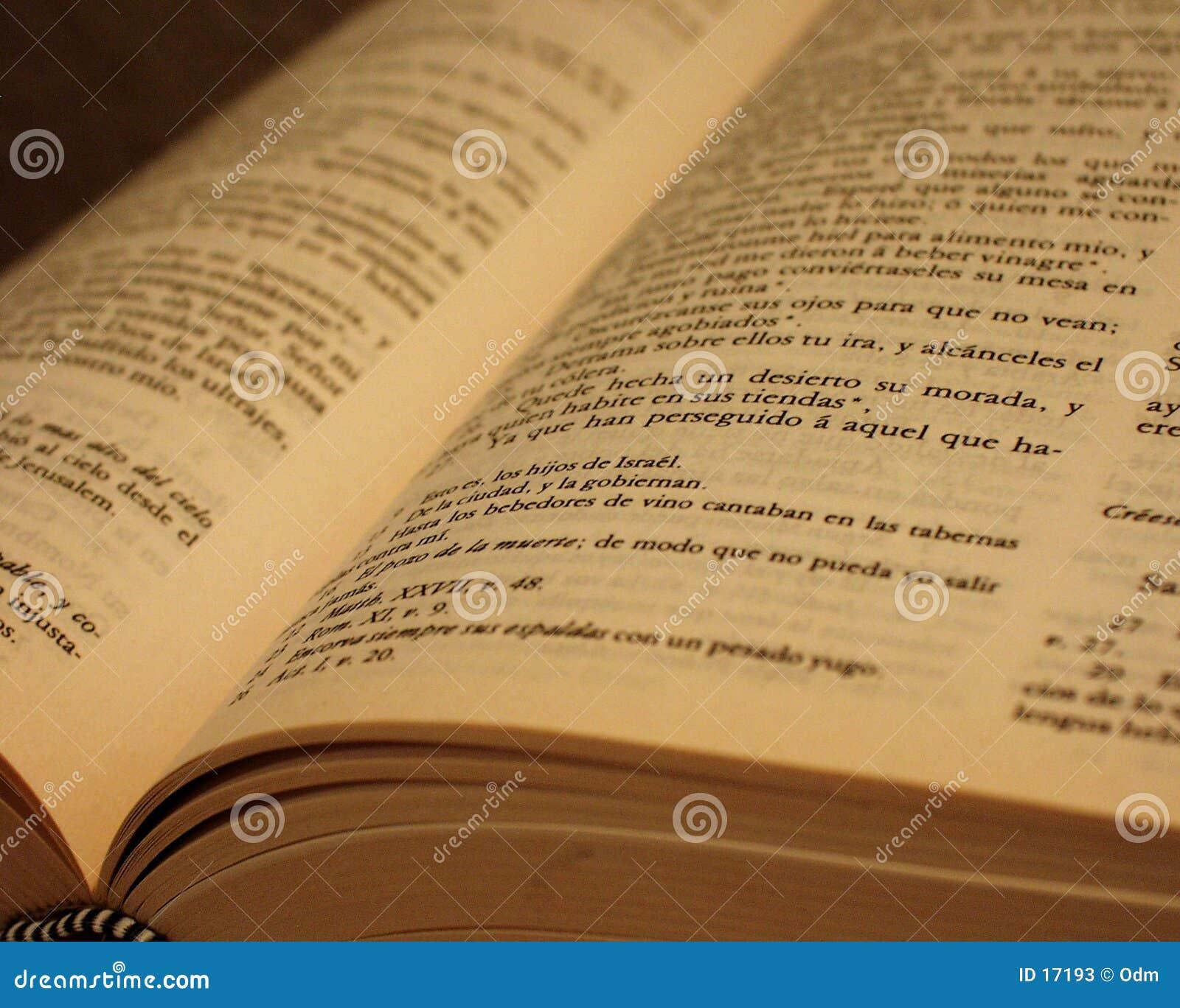 A Bíblia antiga espanhola