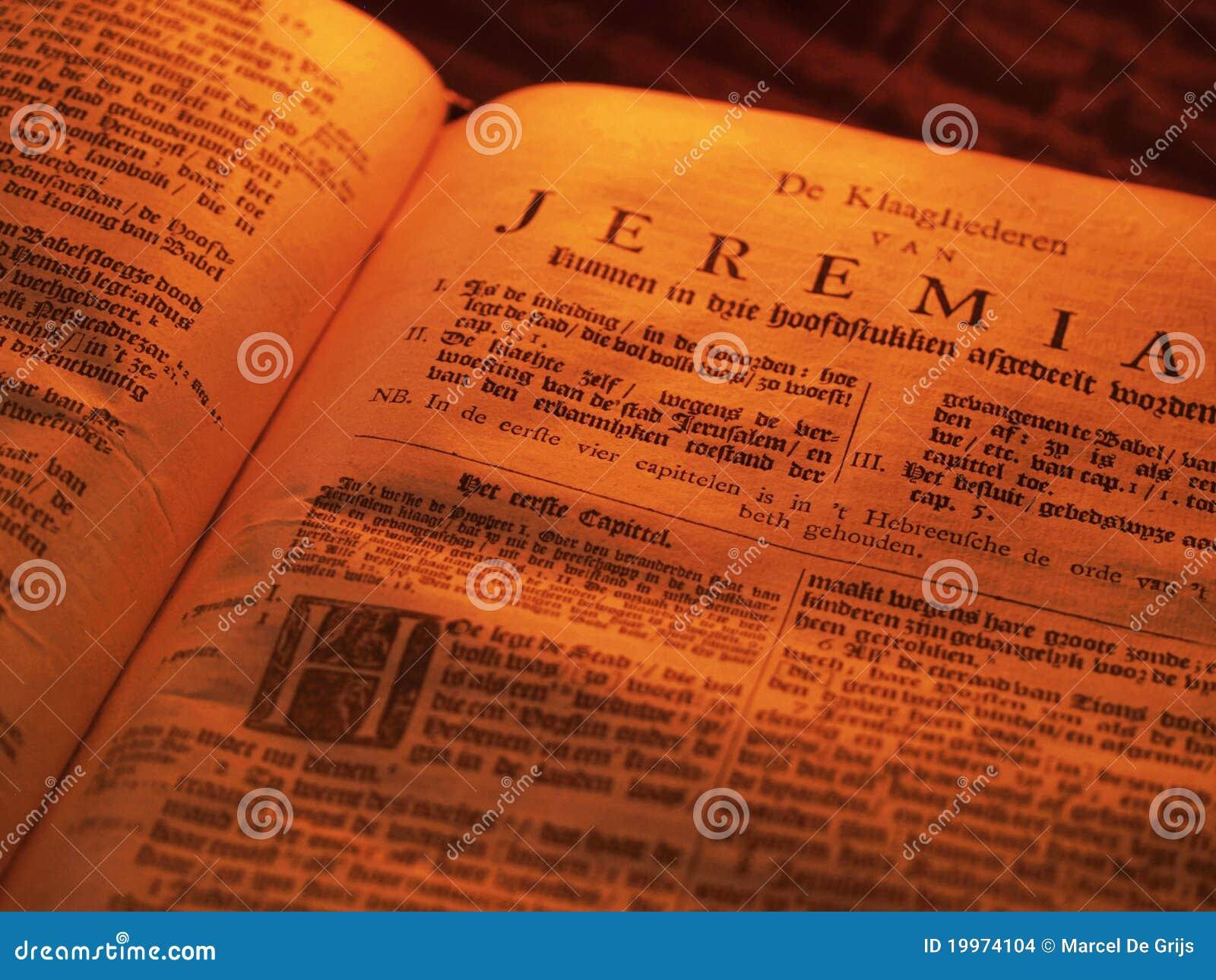 A Bíblia velha Jeremia