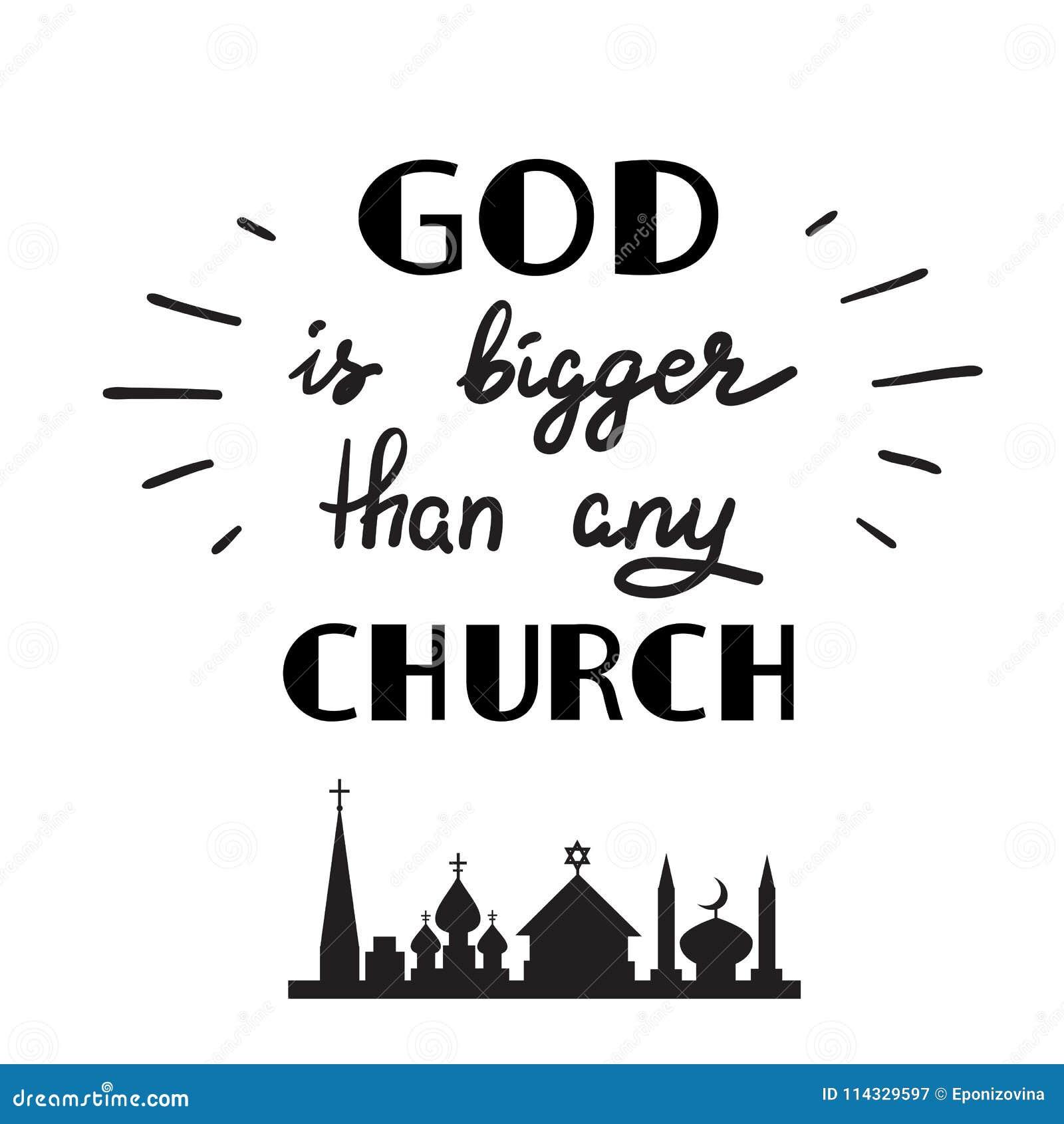 Bóg Jest Duży Niż Jakaś Kościół Motywacyjny Wycena