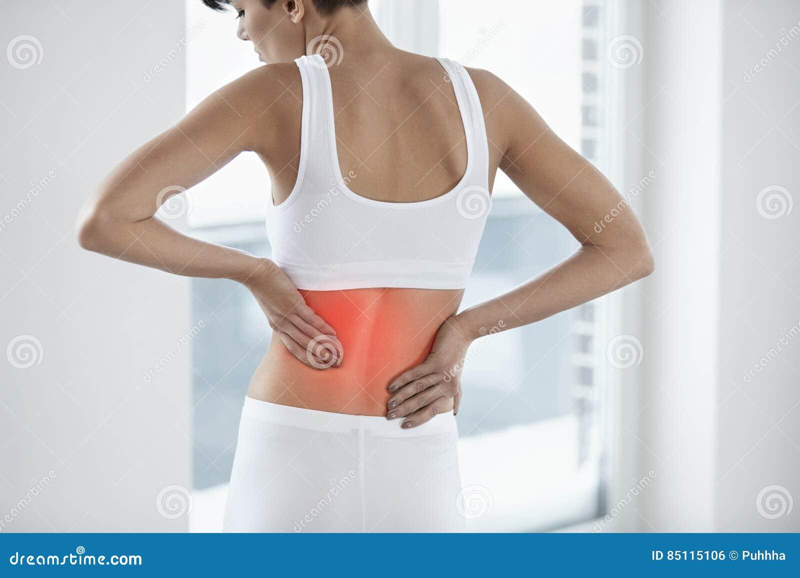 Ból Piękna kobieta Ma Bolesnego uczucie W plecy, Backache
