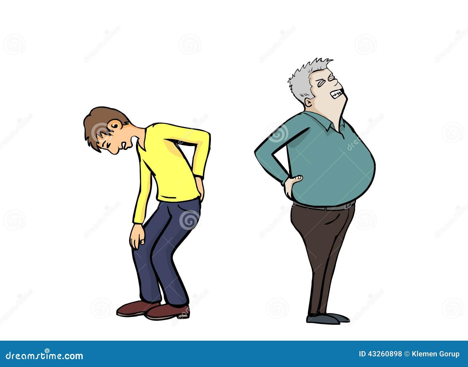 Bólu pleców dwa mężczyzna