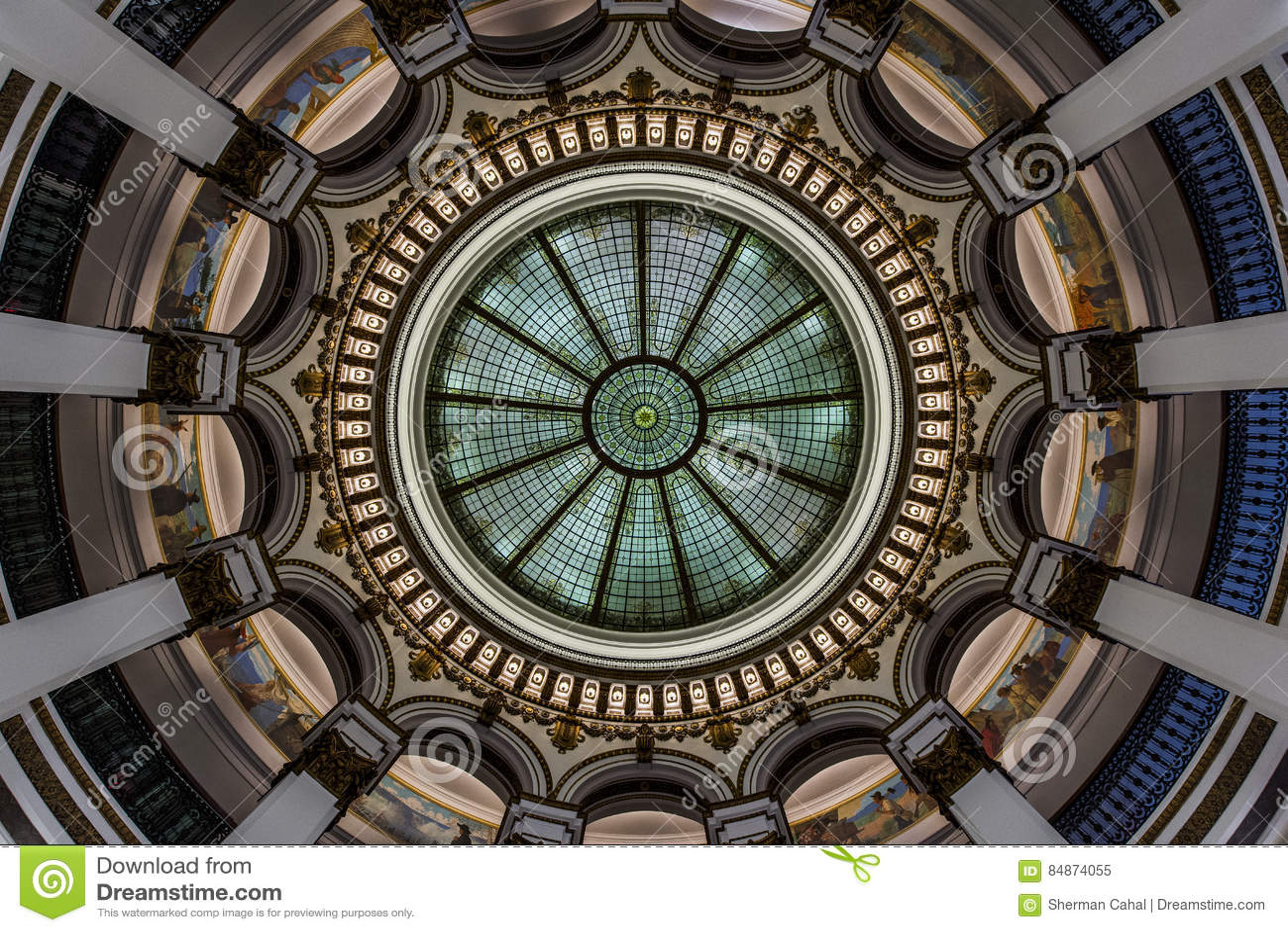 Bóveda de cristal - edificio histórico - Cleveland céntrica, Ohio