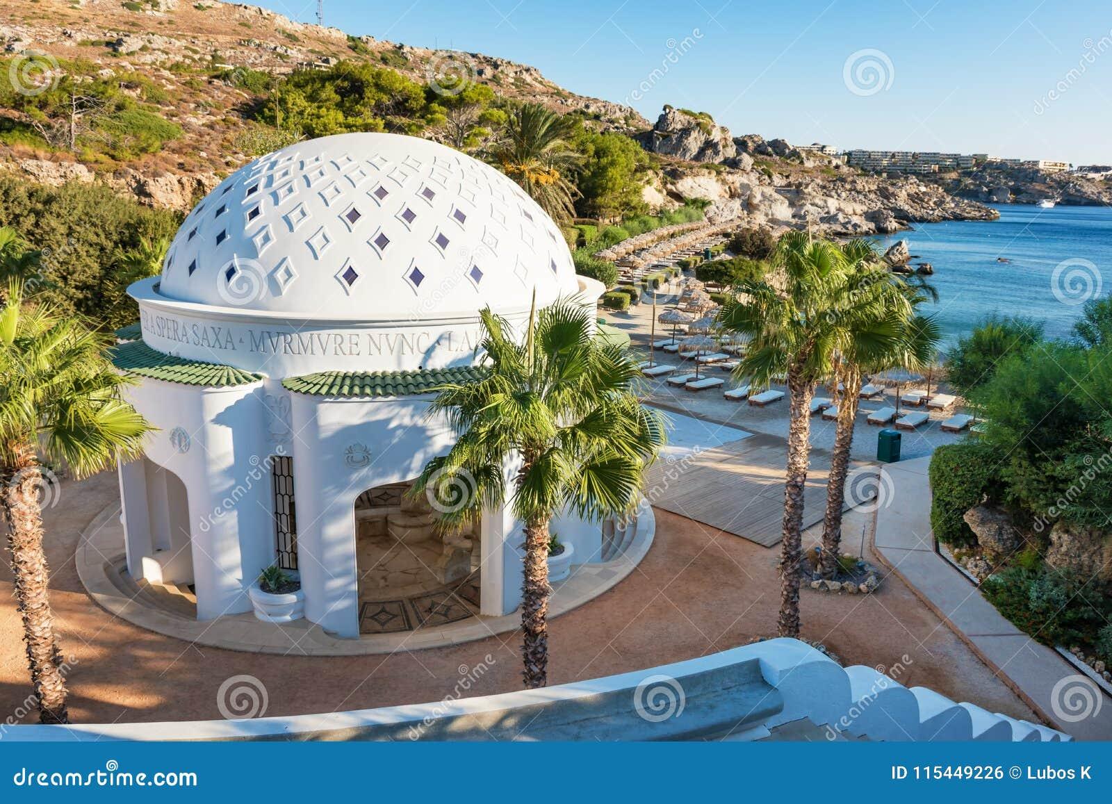 Bóveda en Kalithea Rodas, Grecia - traducción del texto: