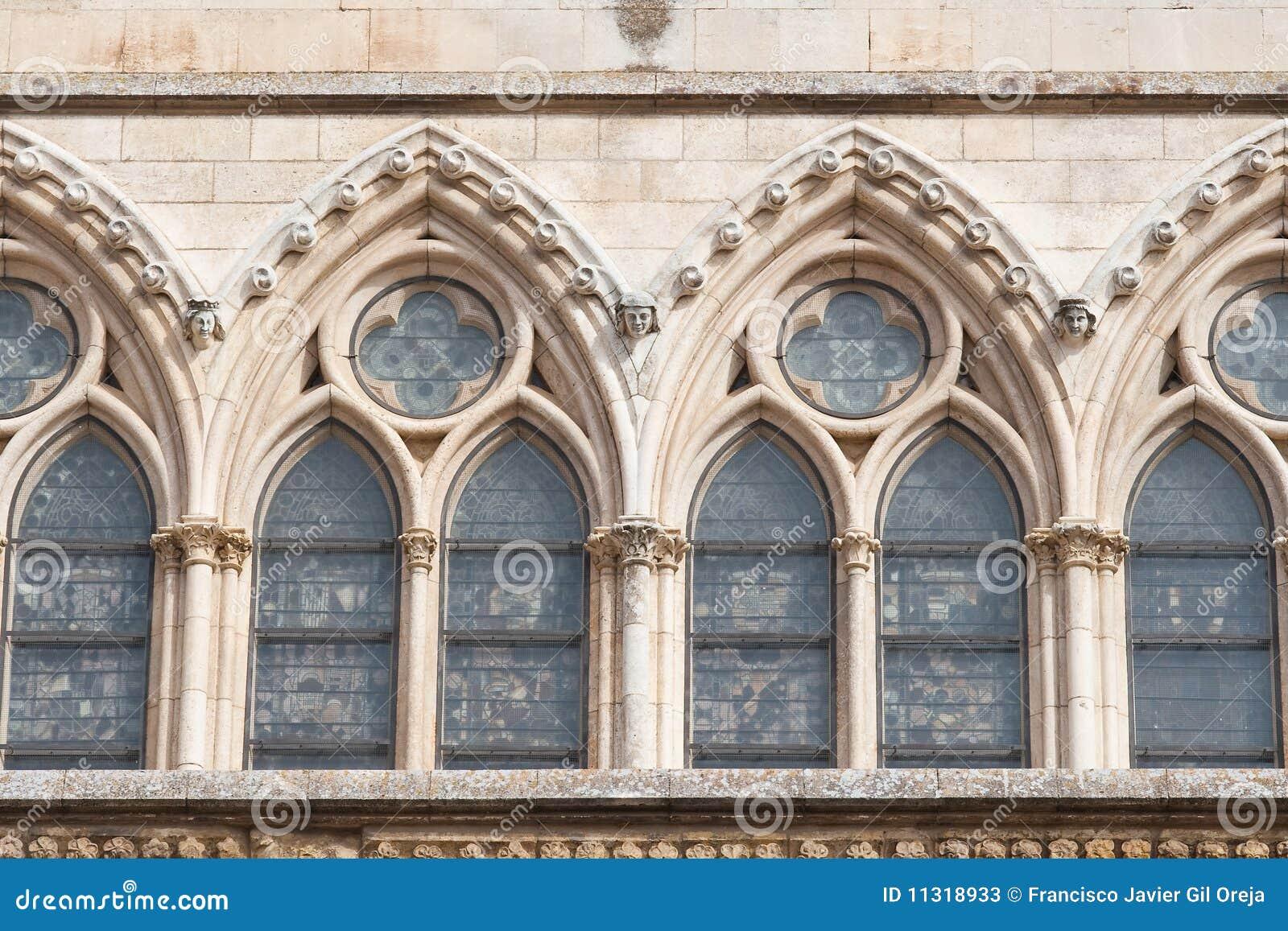 Bögen der Kathedrale von Leon