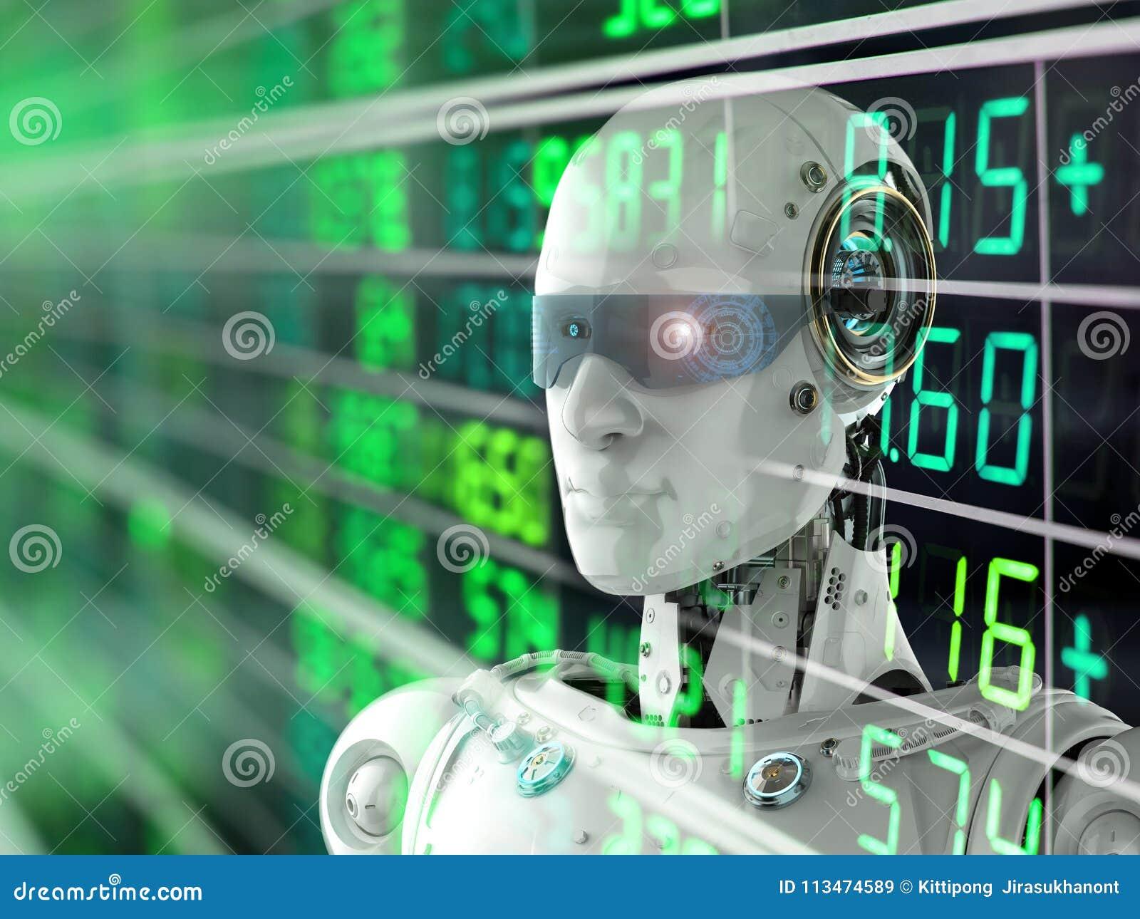Börse des Roboters
