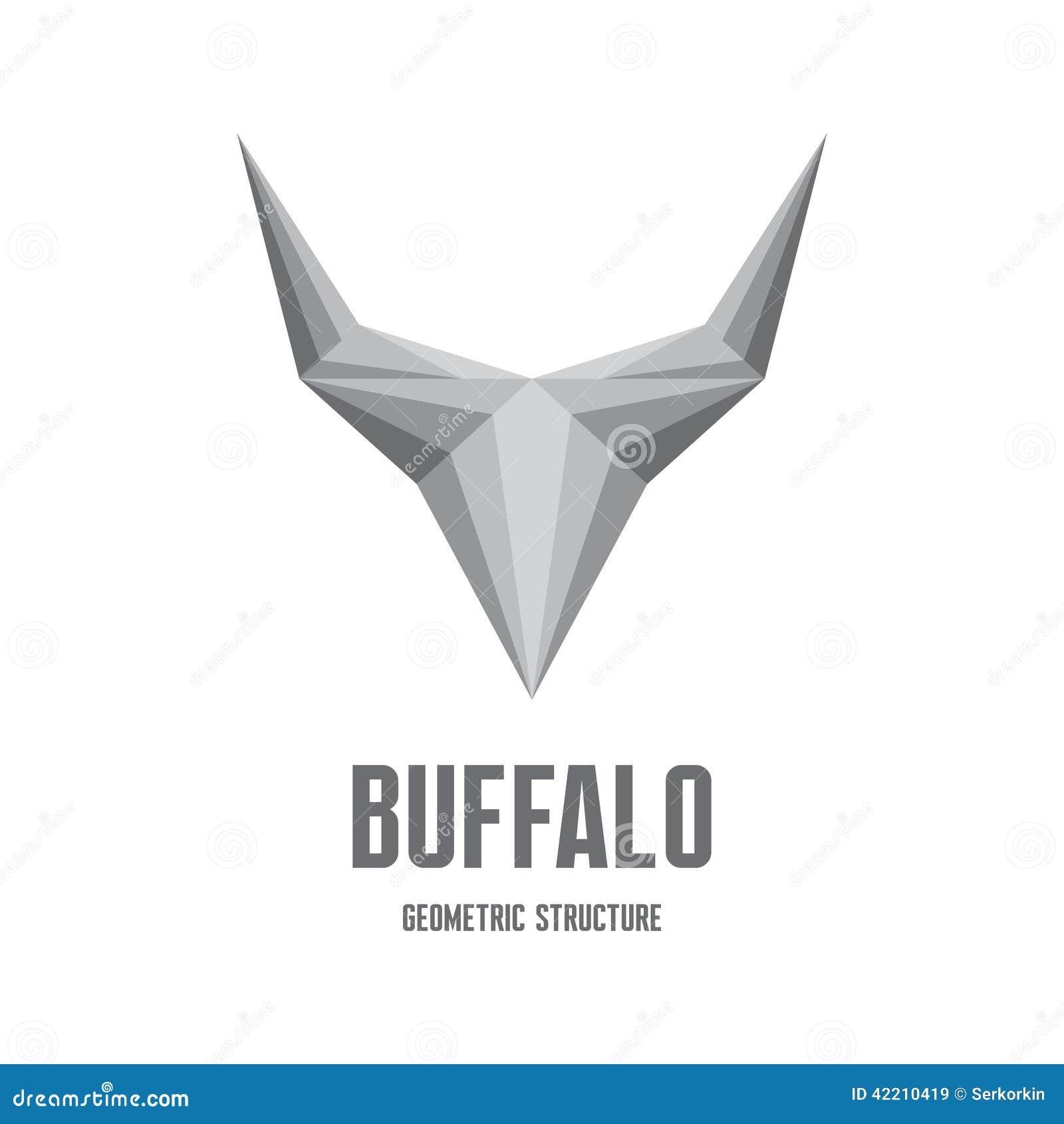 Cabeza Abstracta Del Búfalo De La Silueta Ilustración Stock de ...